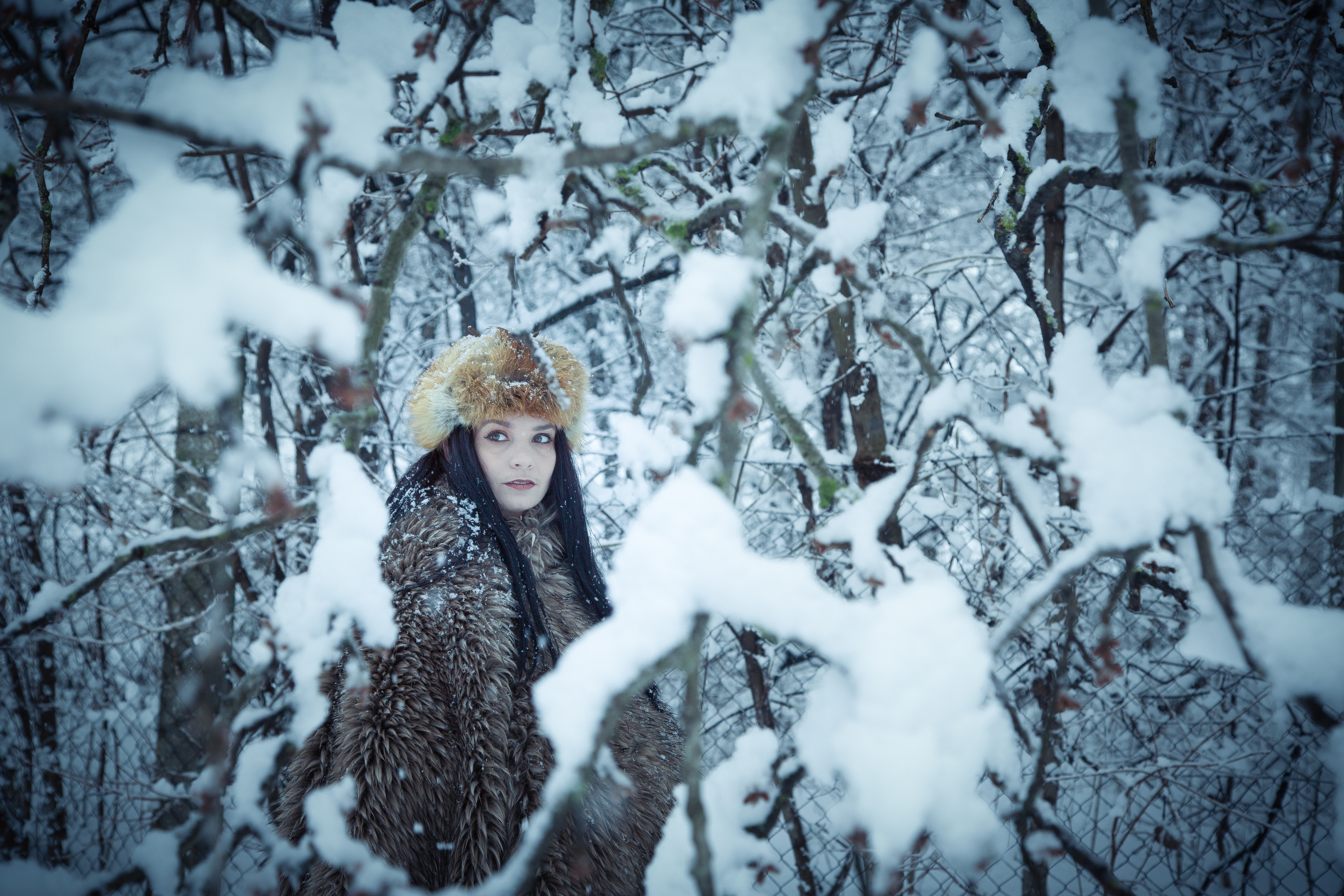 Lenka - blue winter photo