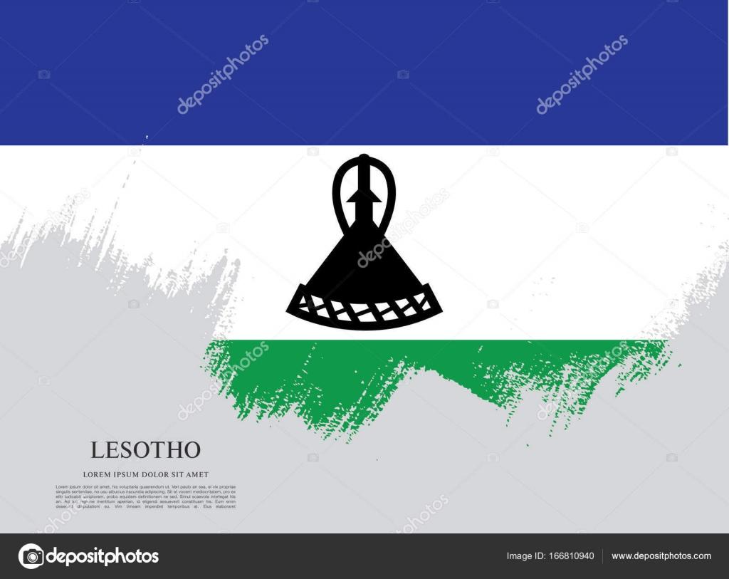 Lesotho flag background — Stock Vector © Igor_Vkv #166810940