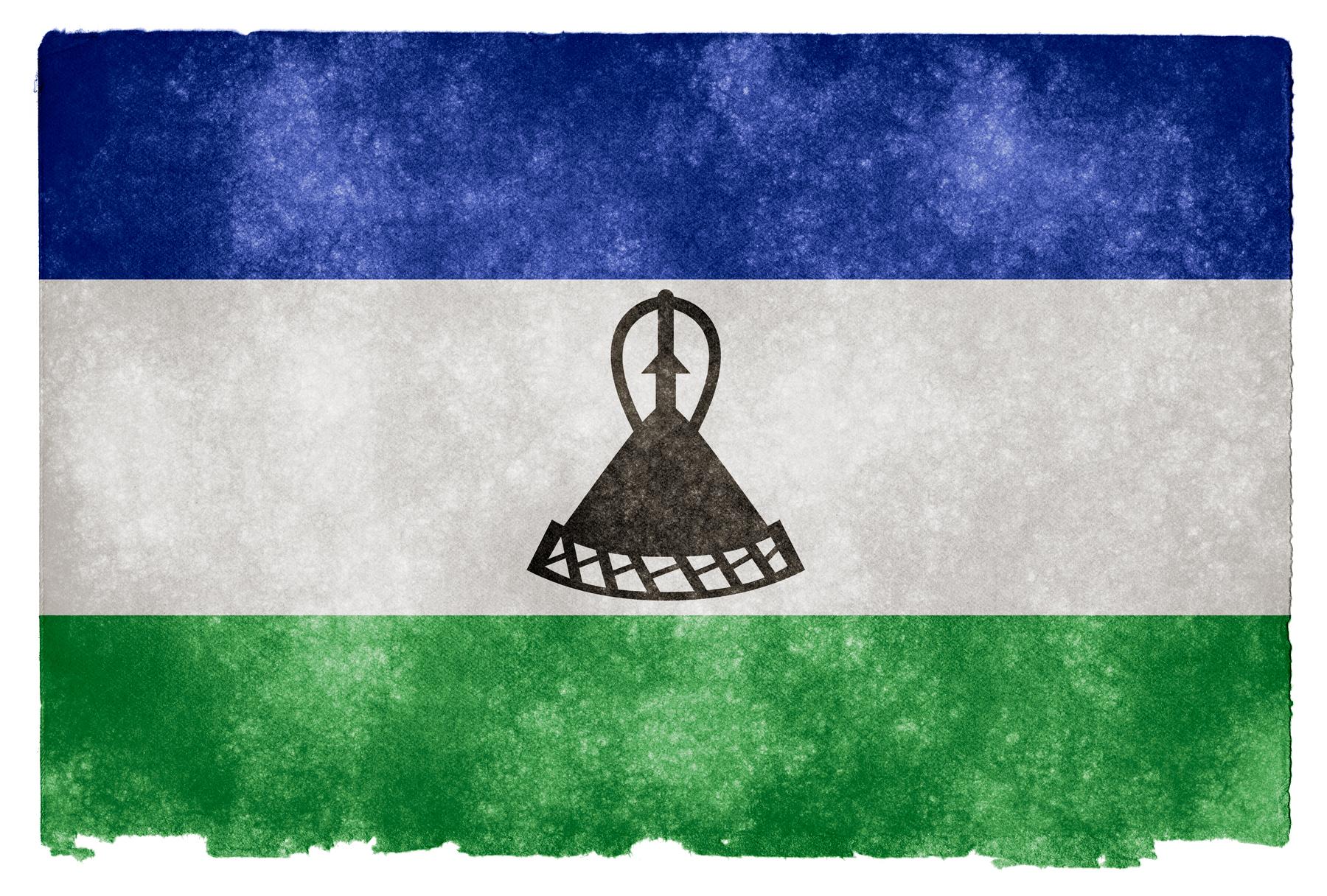 Lesotho Grunge Flag, Africa, Resource, Nation, National, HQ Photo