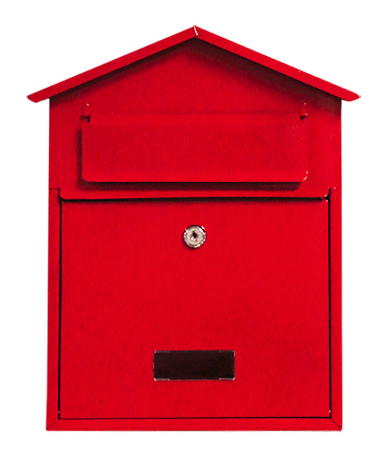 Bird Houses Red Post Box Birdhouse S L1600 Lockable Steel Wall ...