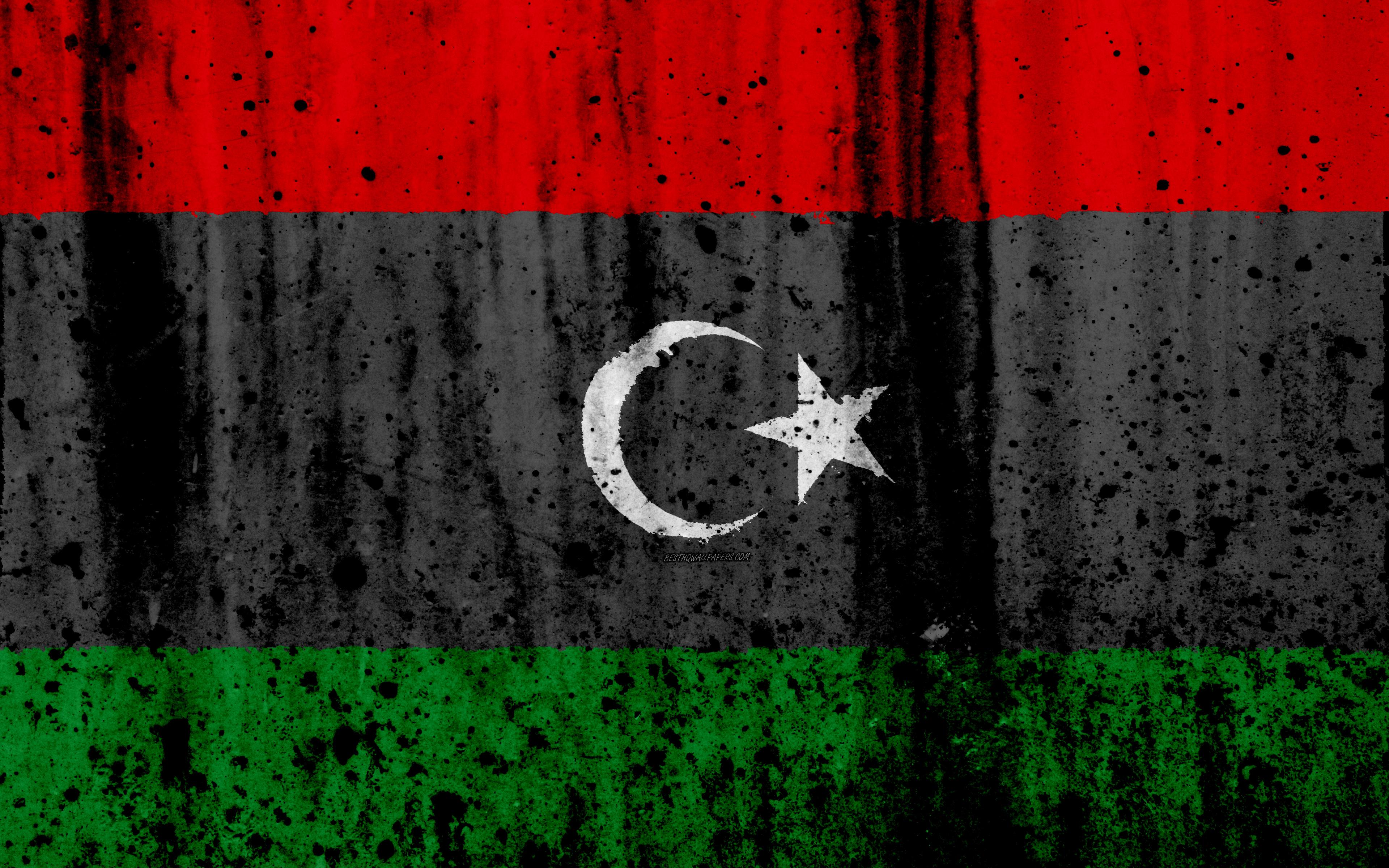 Download wallpapers Libyan flag, 4k, grunge, flag of Libya, Africa ...