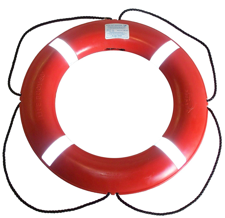 Amazon.com : Dock Edge + Inc. USCGA Approved S.O.L.A.S. Life Ring ...