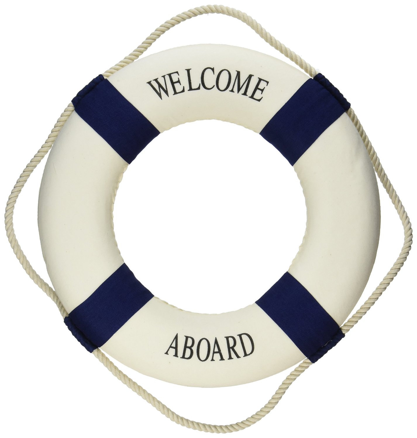 Nautical Life Ring Accent Decor Welcome Aboard Decoration