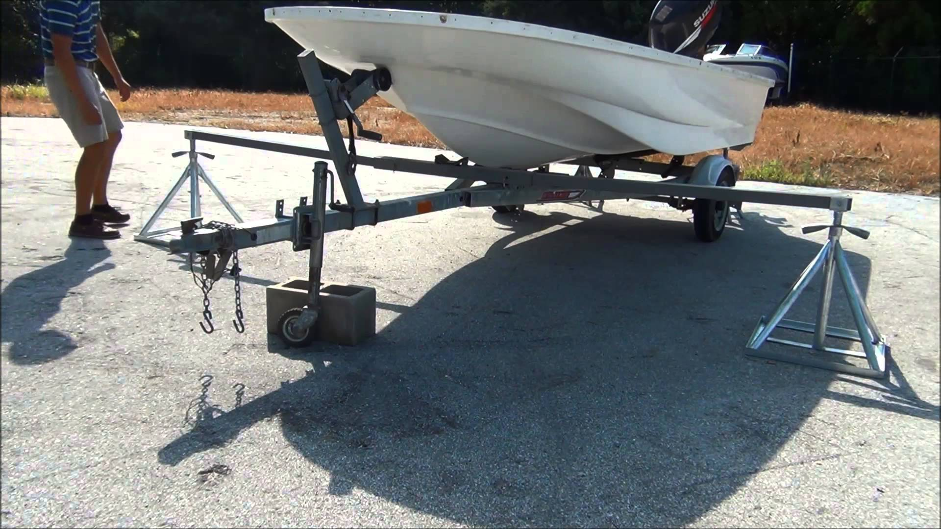 Scaffoldmart's Boat Lift/Trailer Removal System - YouTube