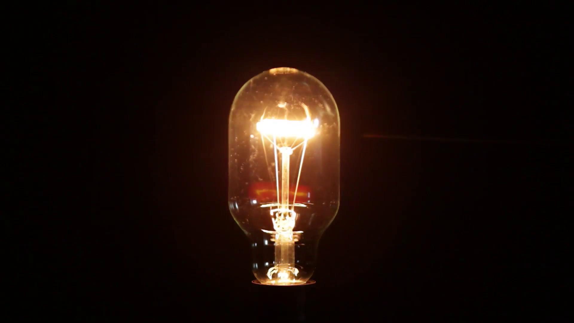 Light bulb closeup photo