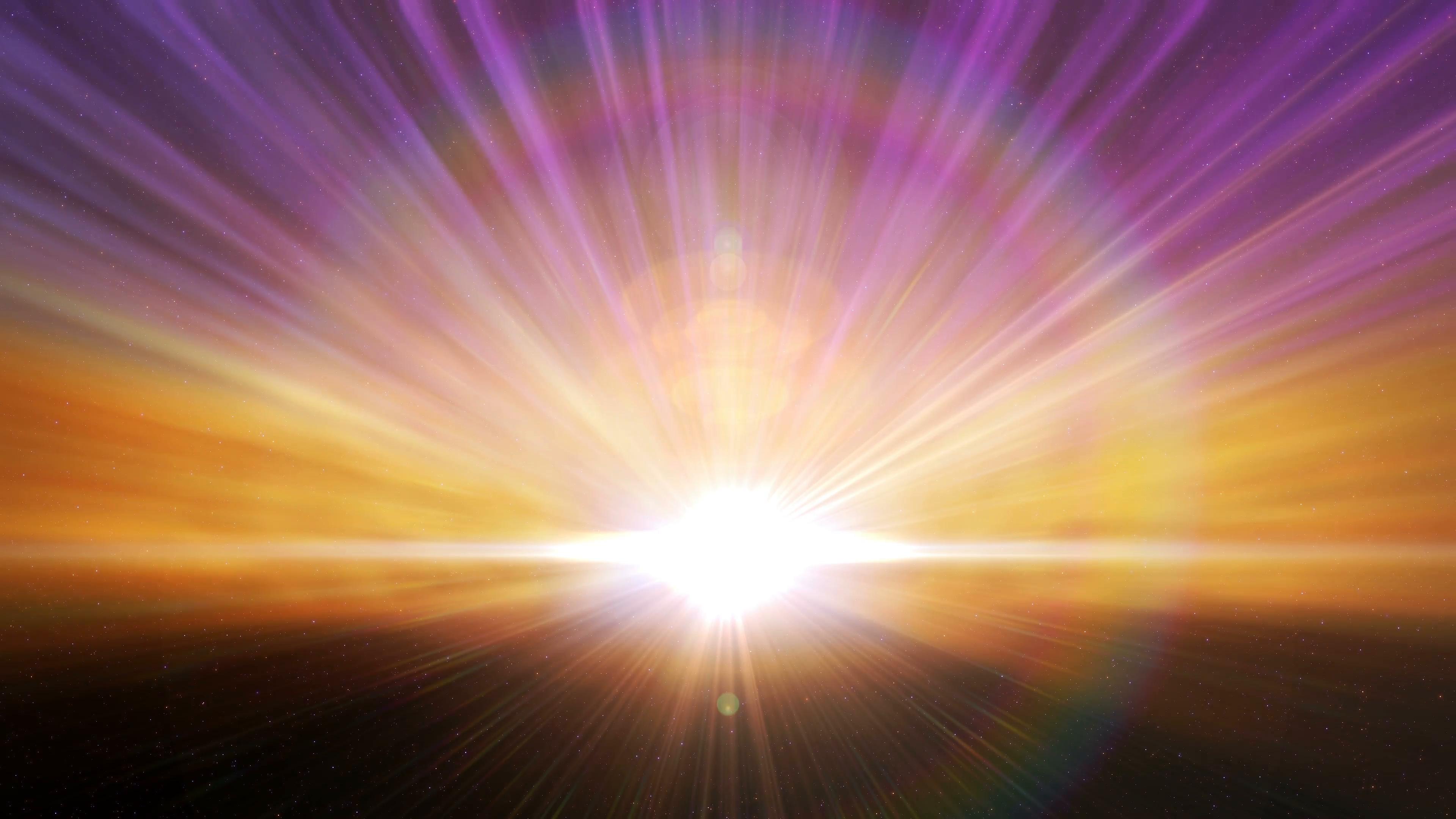 Cosmic Horizon Light Burst Loop Motion Background - Videoblocks