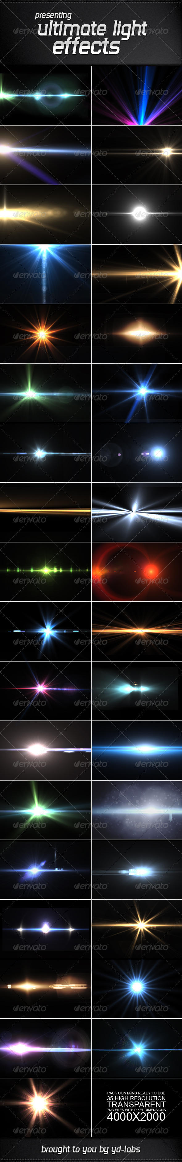 35 Ultimate Light Effects Volume 2 by ydlabs | GraphicRiver