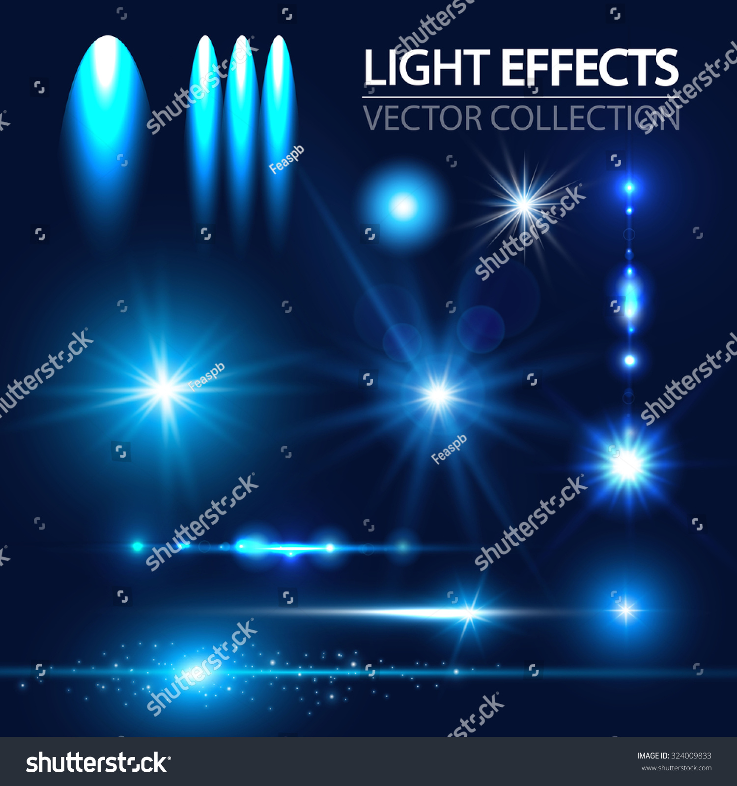 Light Effects Collection Vector Illustration Stock Vector 324009833 ...