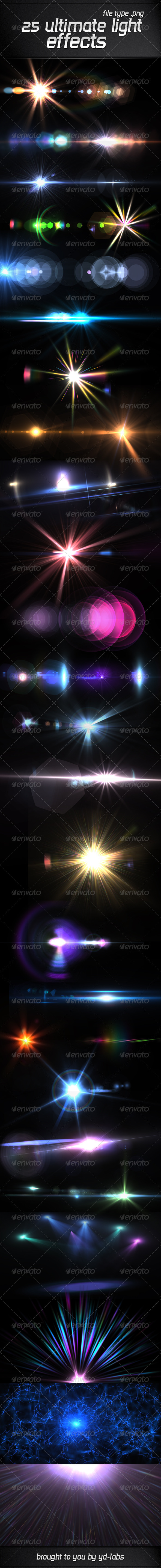 25 Ultimate Light Effects Volume 4 by ydlabs | GraphicRiver