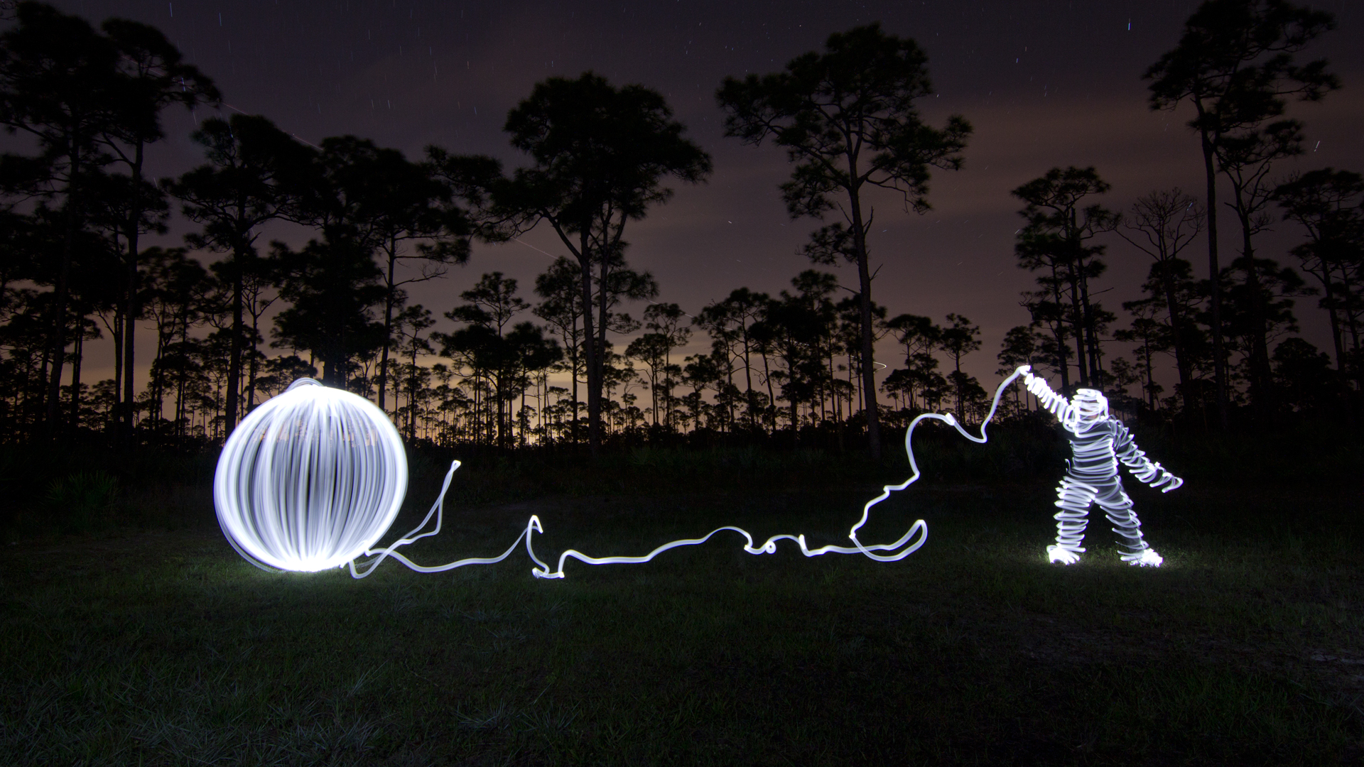 Light painting photo