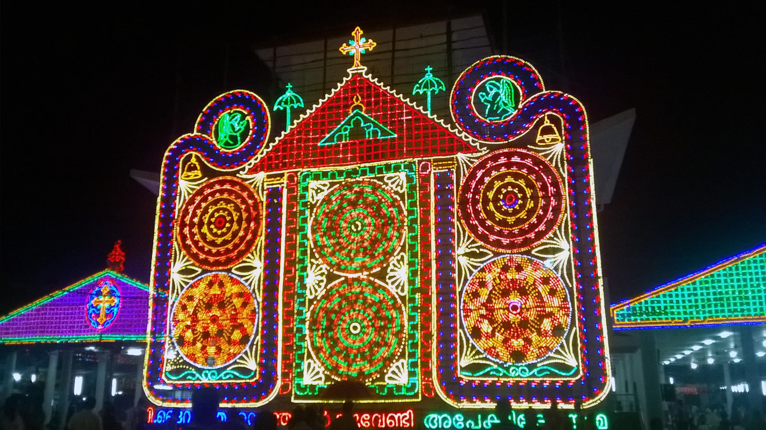 Light Patterns, Blue, Bulb, Bulbs, Church, HQ Photo