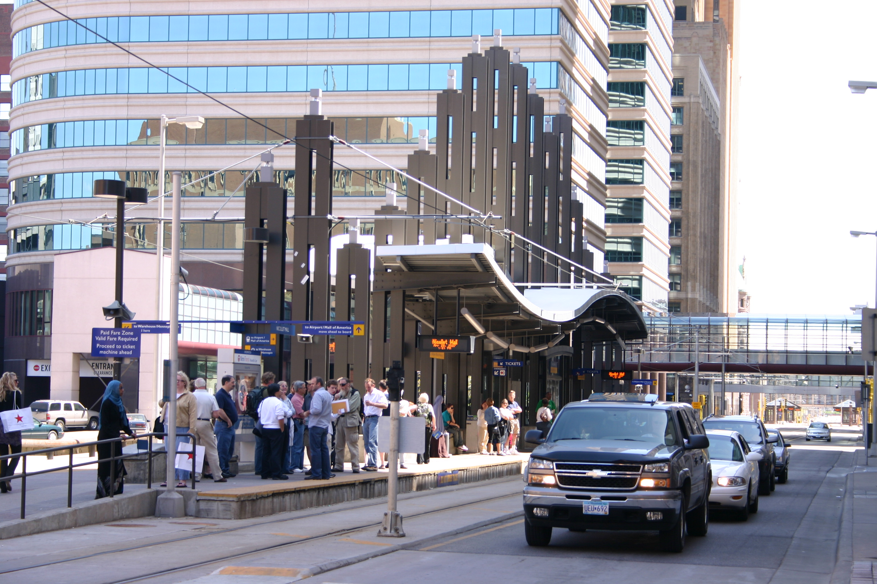 Light rail station photo