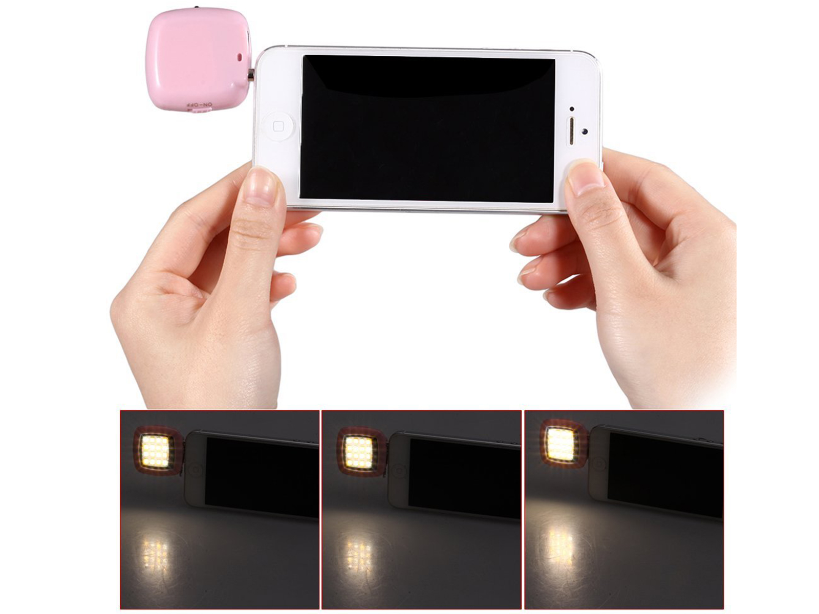 Universal Portable Mini 16 LED External Flash Fill Light Selfie For ...