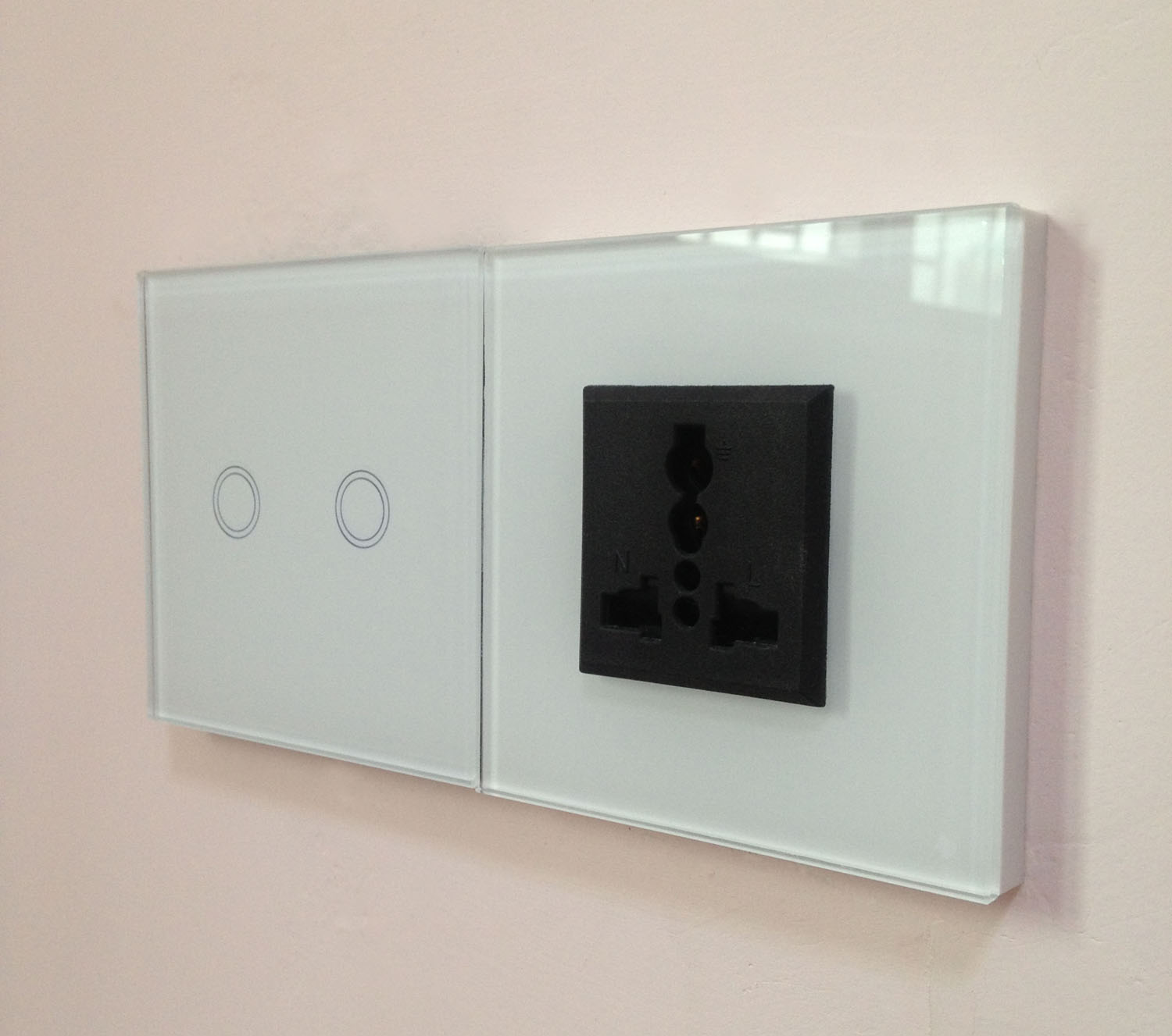 Uk Standard Wall Touch Light Crystal Glass Plate Switch - Buy Glass ...