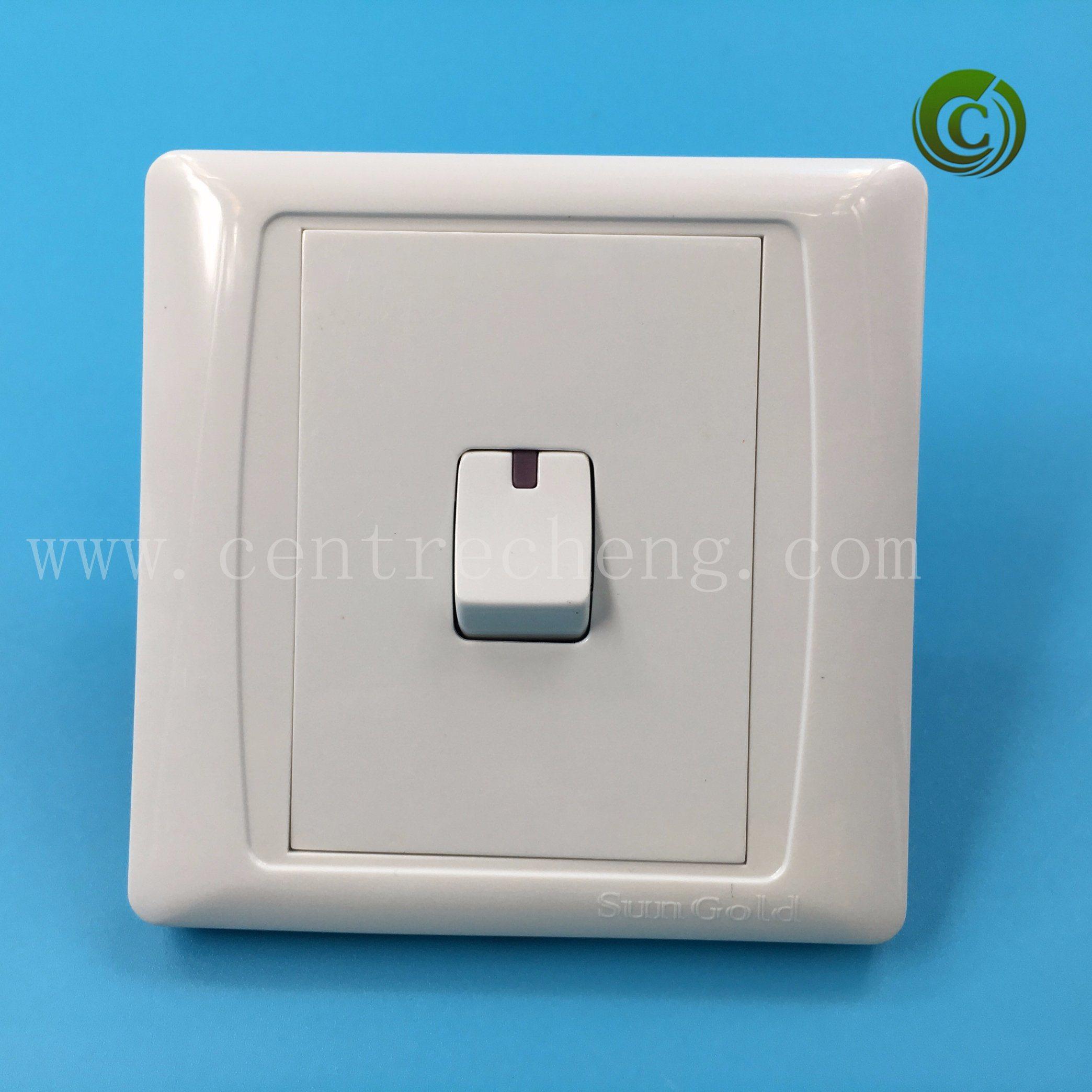 China Foshan Plastic Slim Plate Light Switch One Switch Panel Switch ...