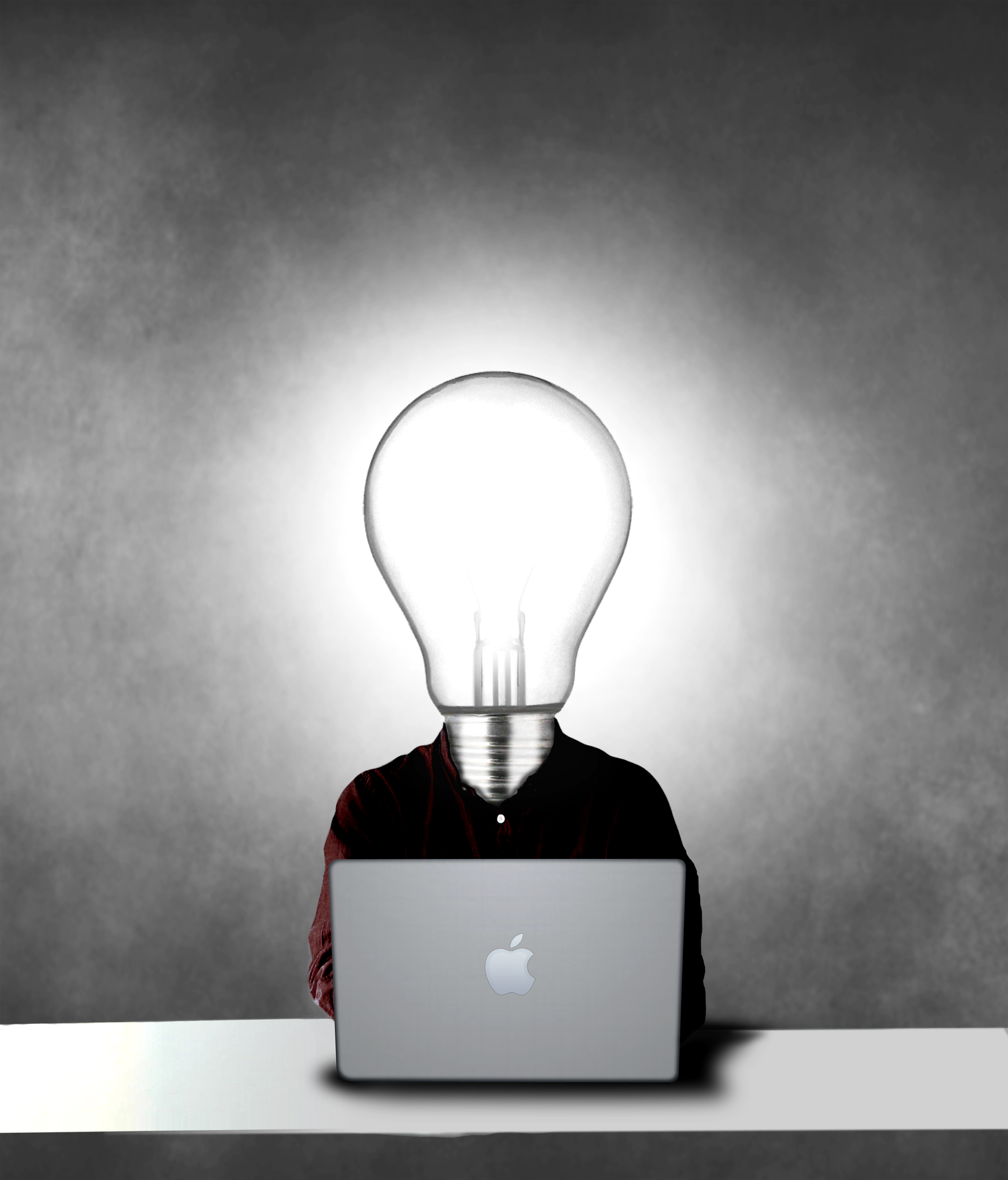 Lightbulb headed man being creative, 30s, Marketing, Person, People, HQ Photo