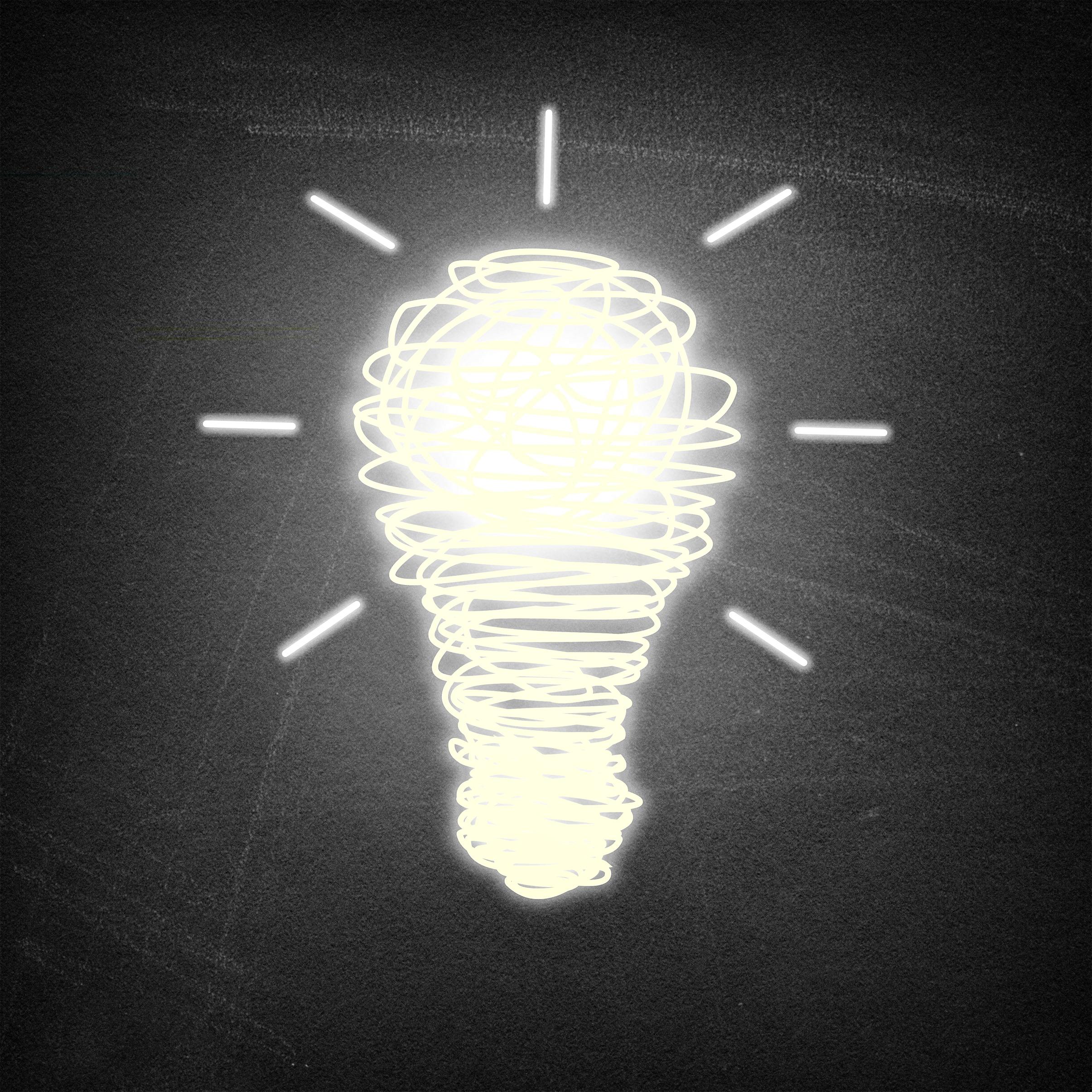 Light Bulb Wallpaper: Free Photo: Lightbulb Idea On Chalkboard Background