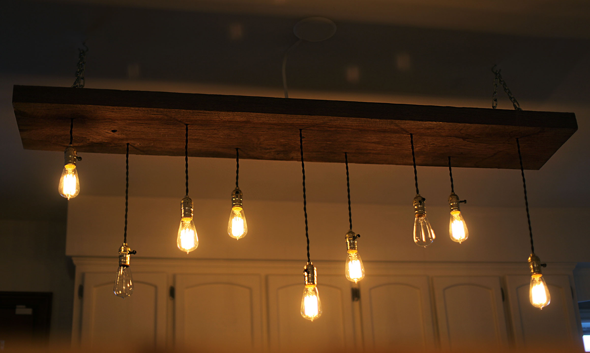Lightbulbs on wood photo