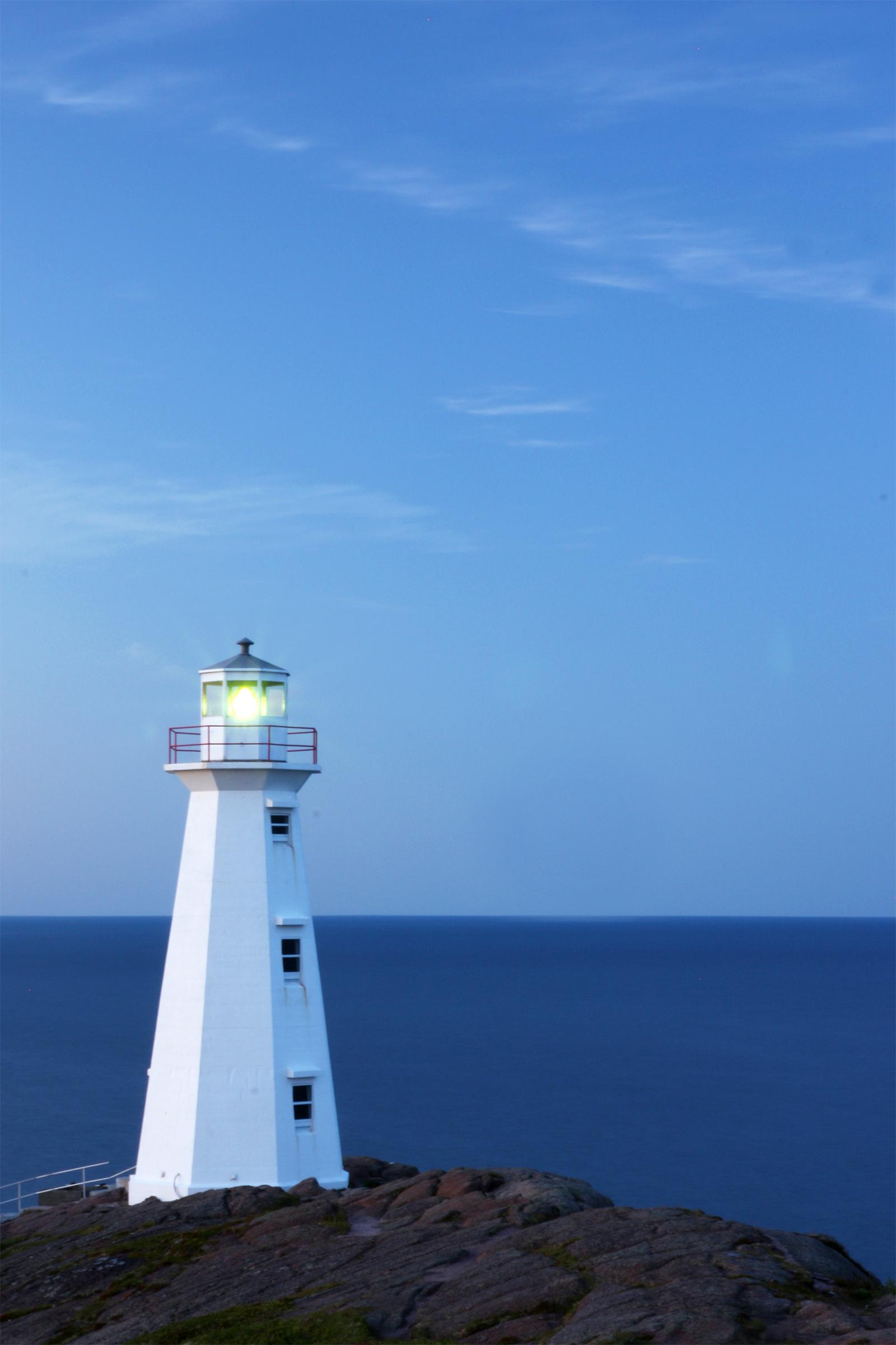 Lighthouse, Atlantic, Newfoundland, Sunset, Stone, HQ Photo
