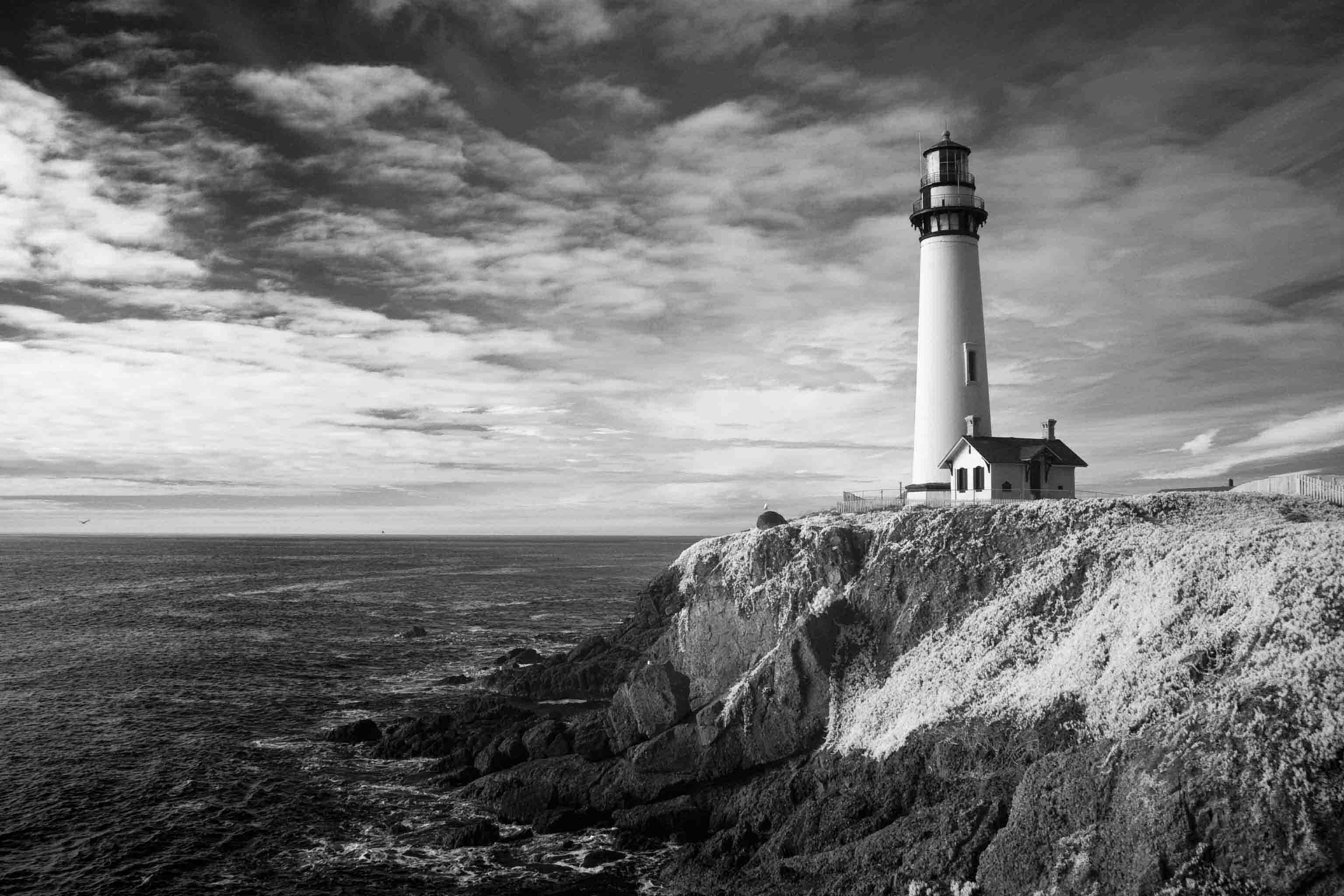 Pigeon Point Lighthouse in Infrared | naturetime