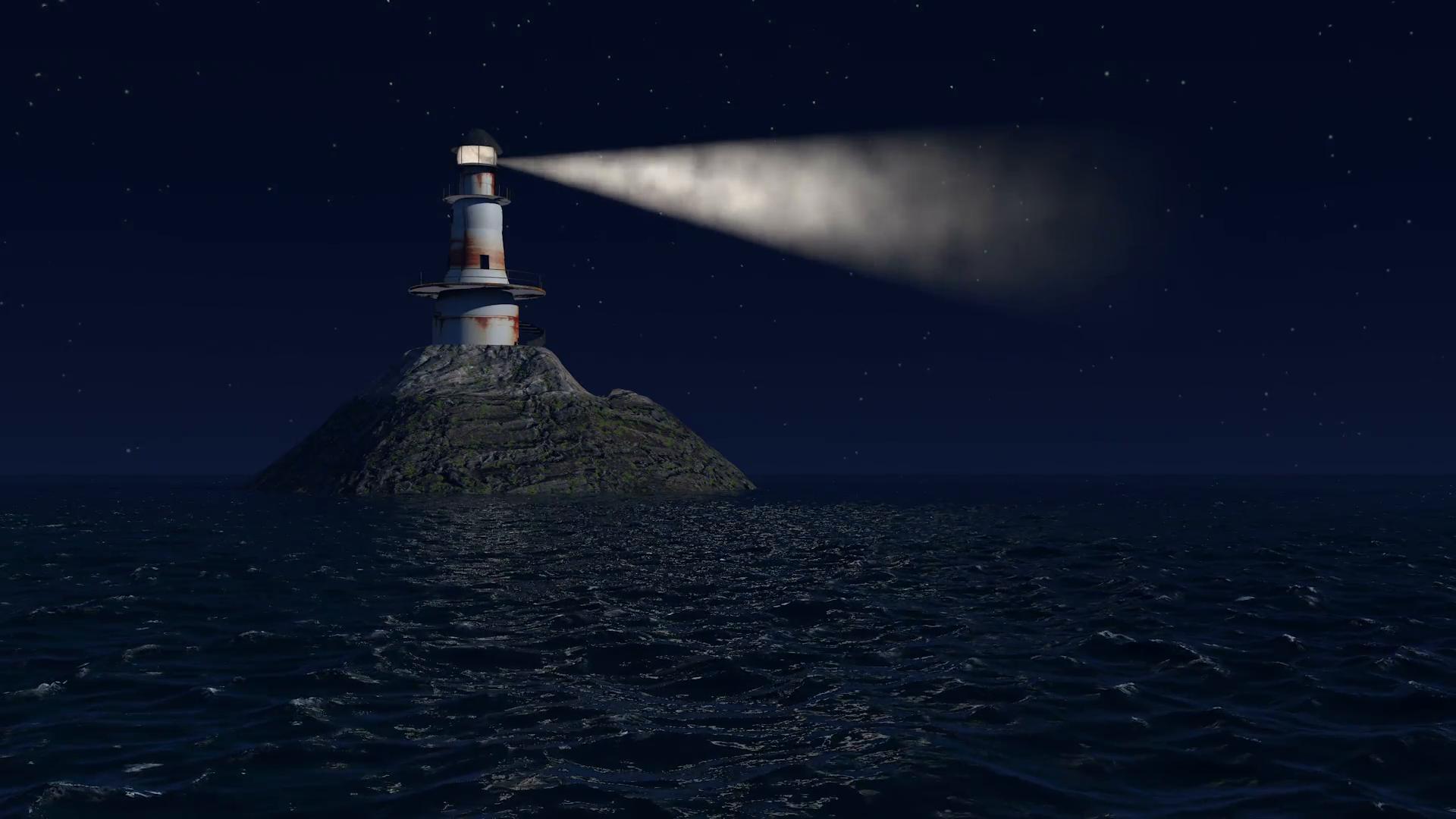 Free photo: Lighthouse at Night - Lighthouse, Night, Sky ...