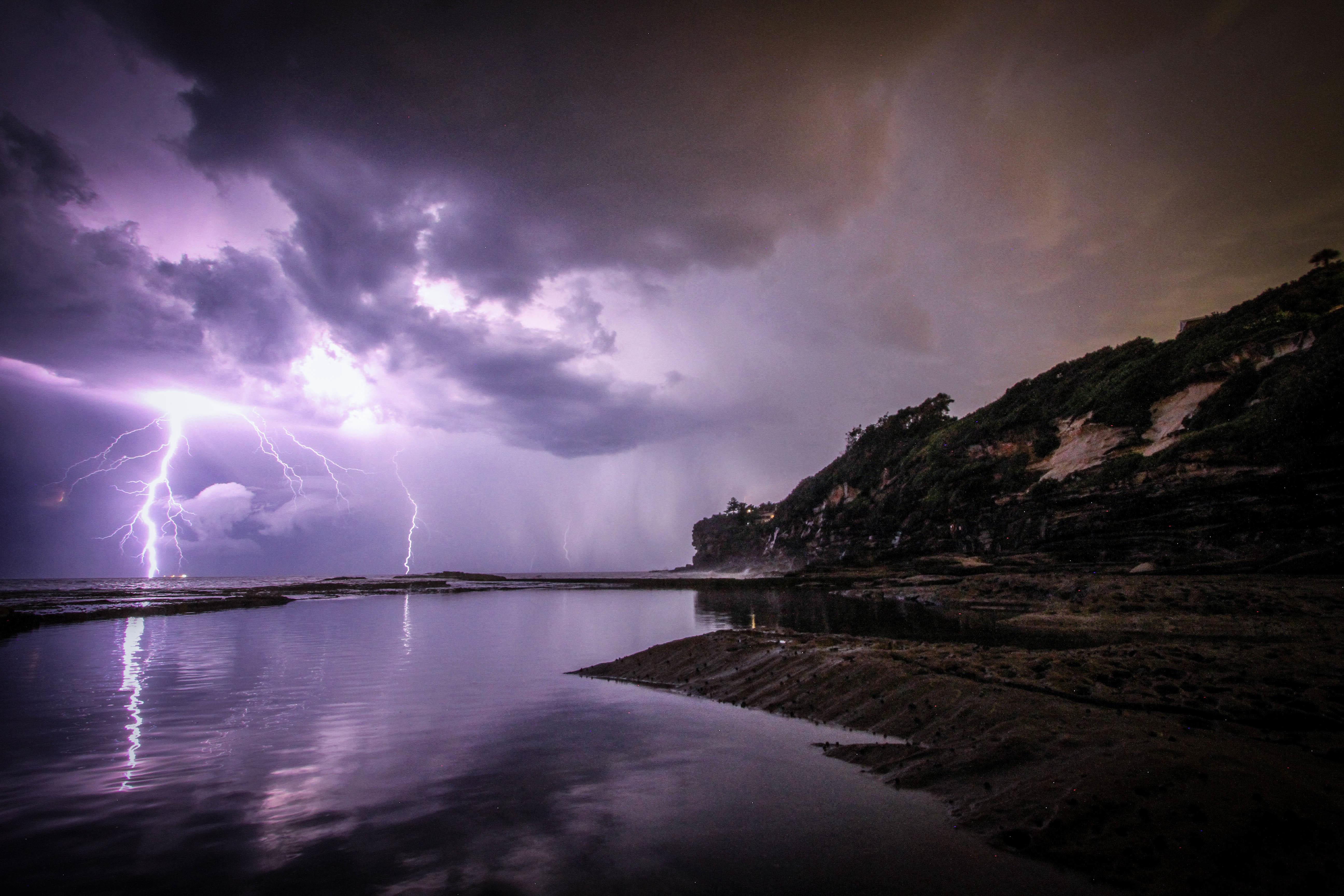Lightning, Cloud, Cloudy, Landscape, Light, HQ Photo
