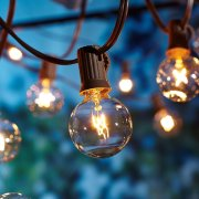 Better Homes and Gardens Outdoor 20 Count Clear Globe String Lights ...