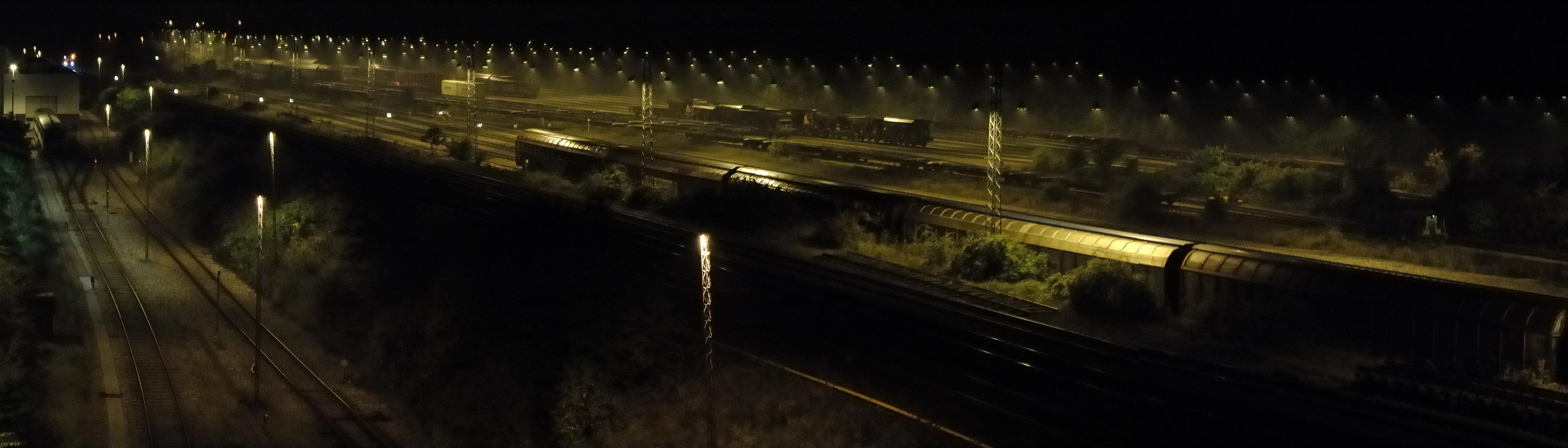 Lights at the trainyard, Bspo06, Light, Lights, Night, HQ Photo