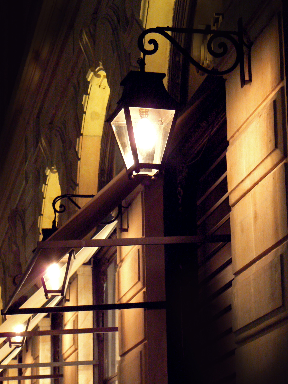 Lights on the corner photo