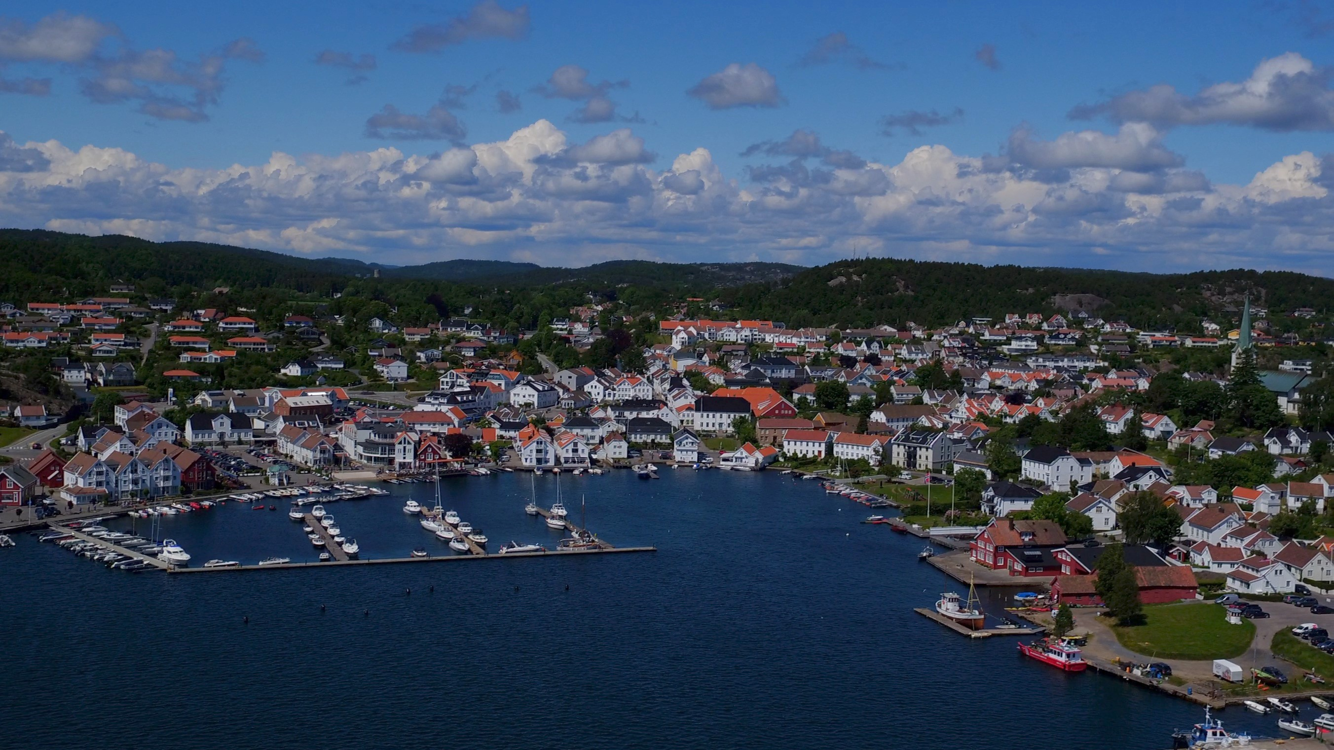 Free photo: Lillesand - Buildings, Norway, Water - Free ...