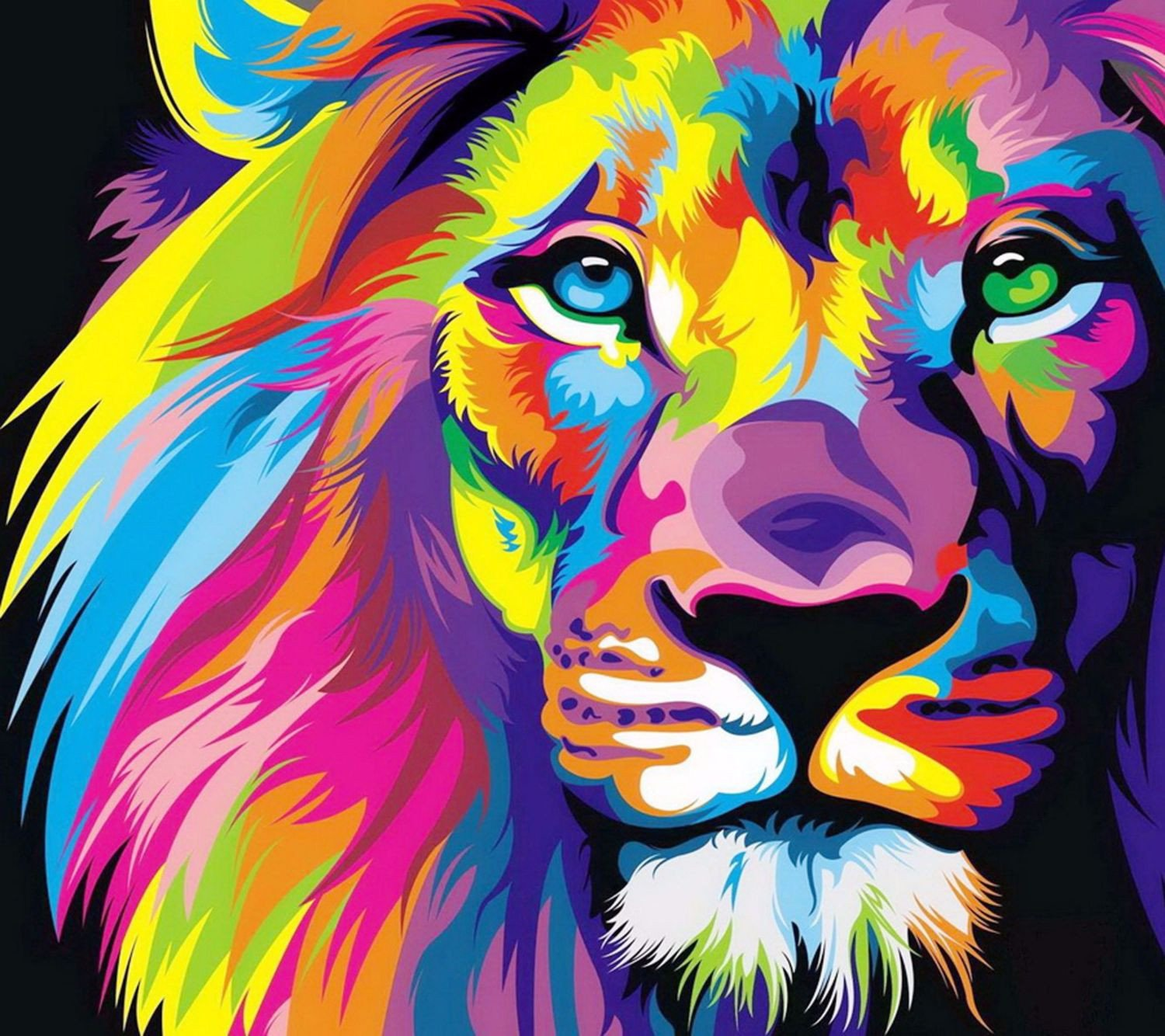 Lion art photo