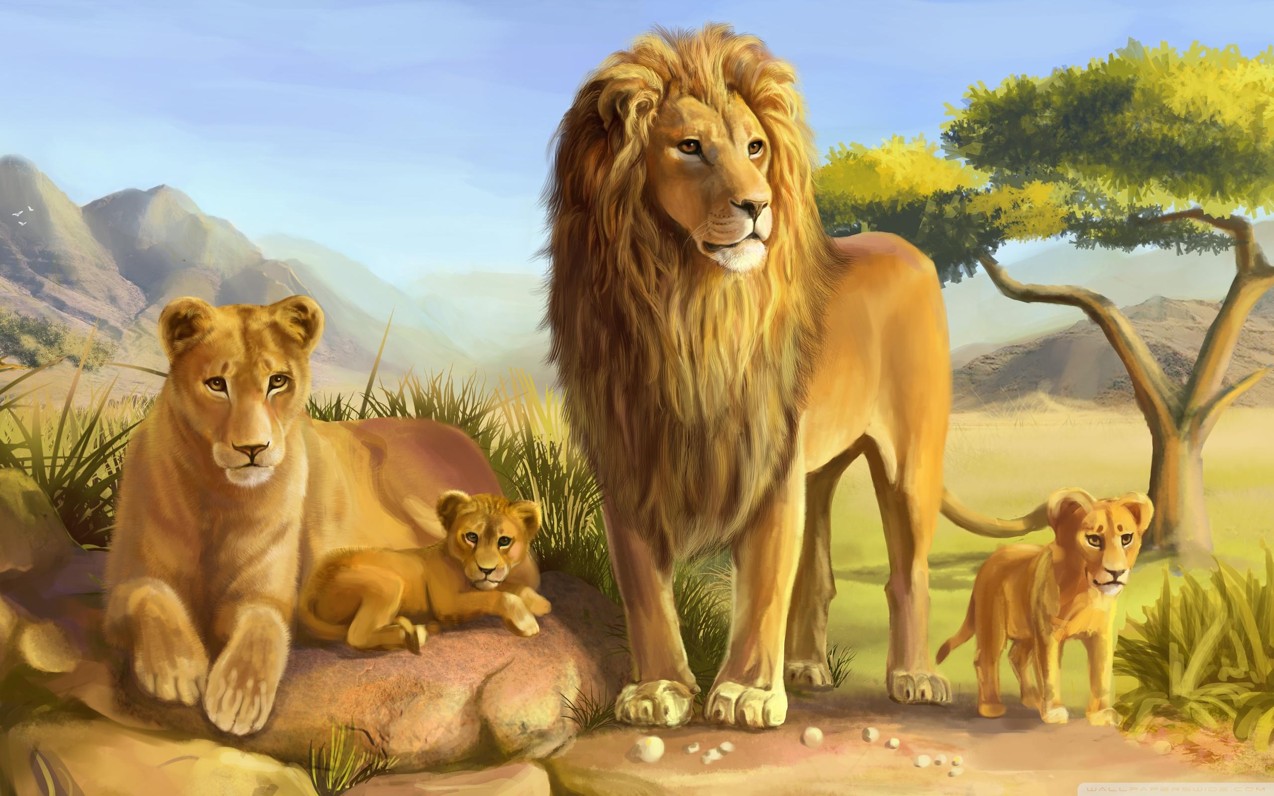 Lion Family ❤ 4K HD Desktop Wallpaper for 4K Ultra HD TV • Tablet ...