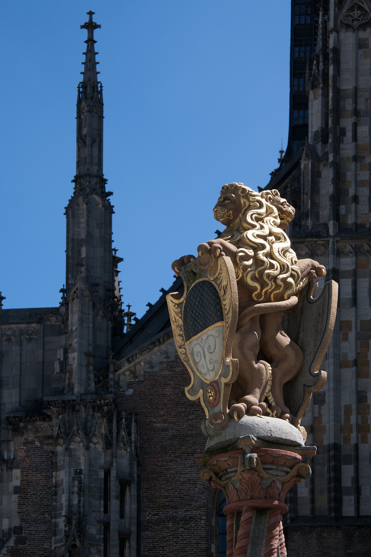 Lion Figure, Architecture, City, Construction, Design, HQ Photo