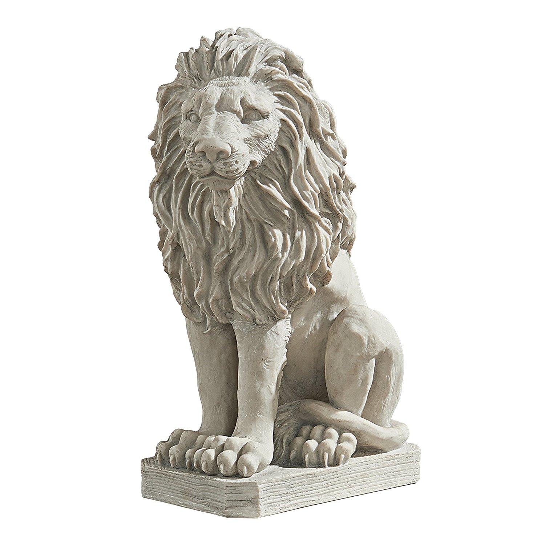 Amazon.com : Design Toscano Mansfield Manor Lion Sentinel Statue ...