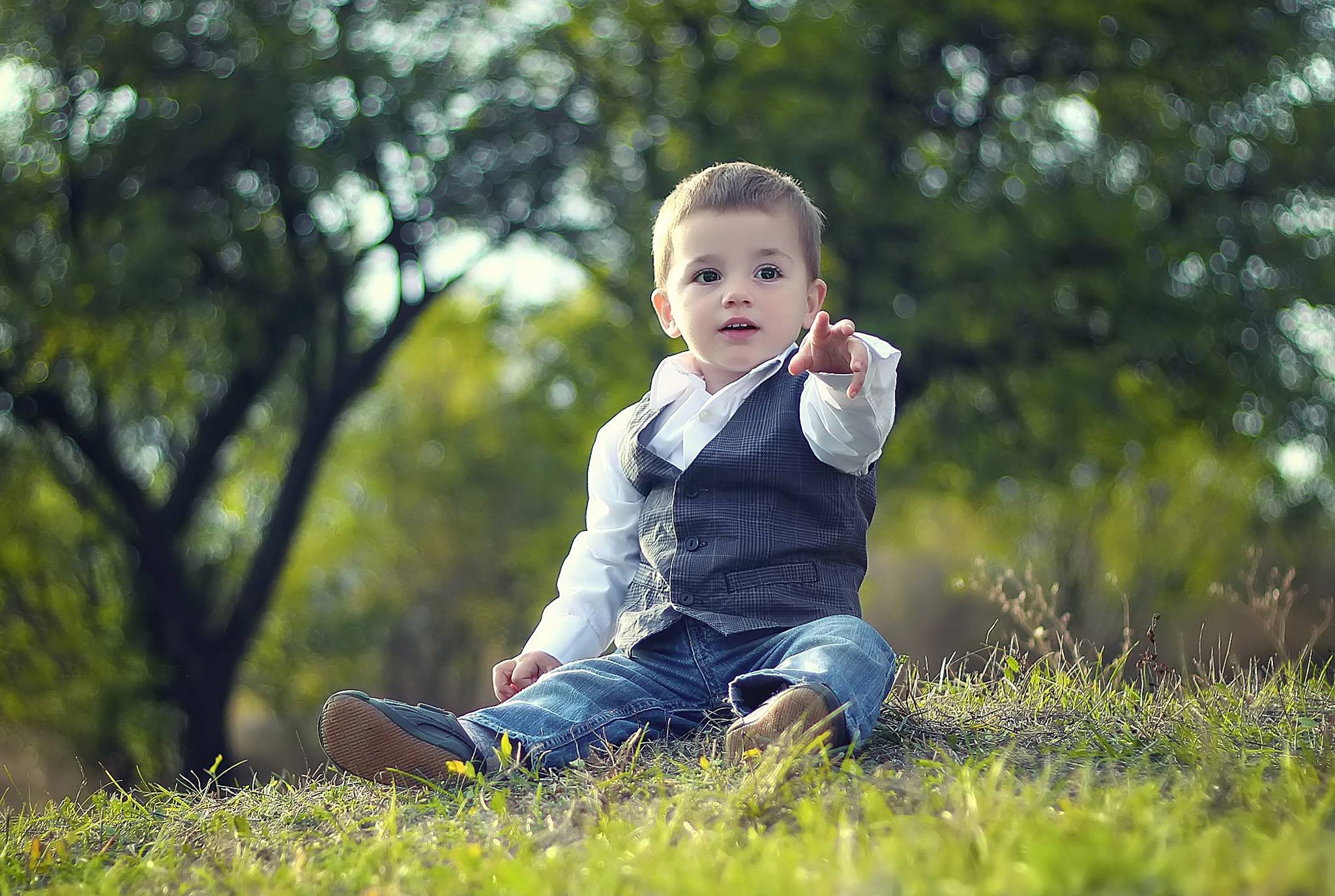 Little boy in the park photo