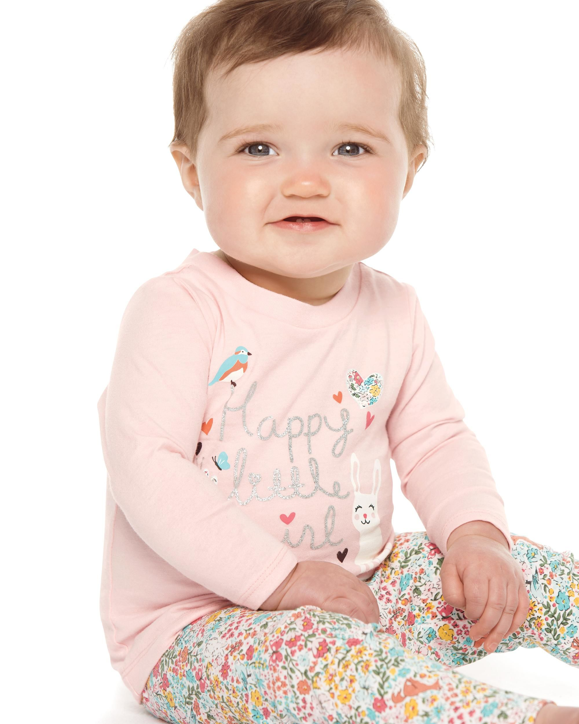 Happy Little Girl Tee | Carters.com
