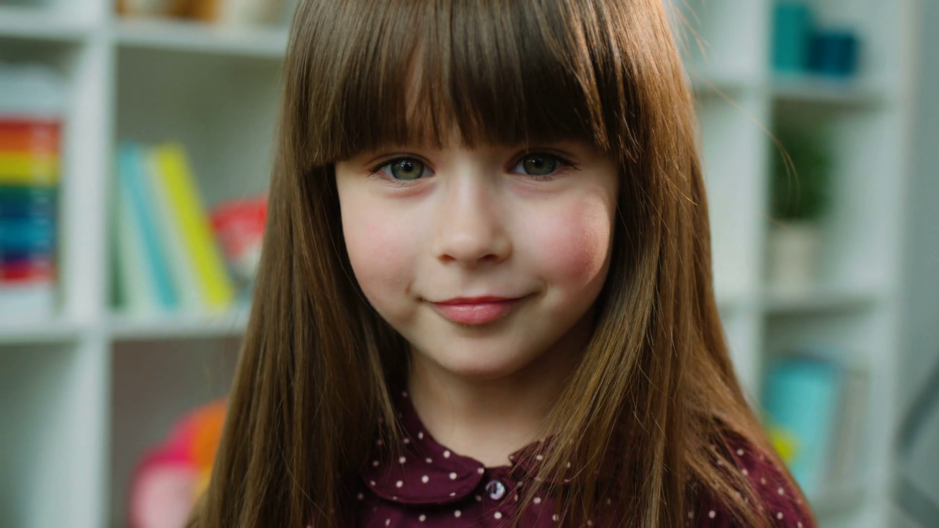 Beautiful Little Girl Hanging Upside Down Stock Photo