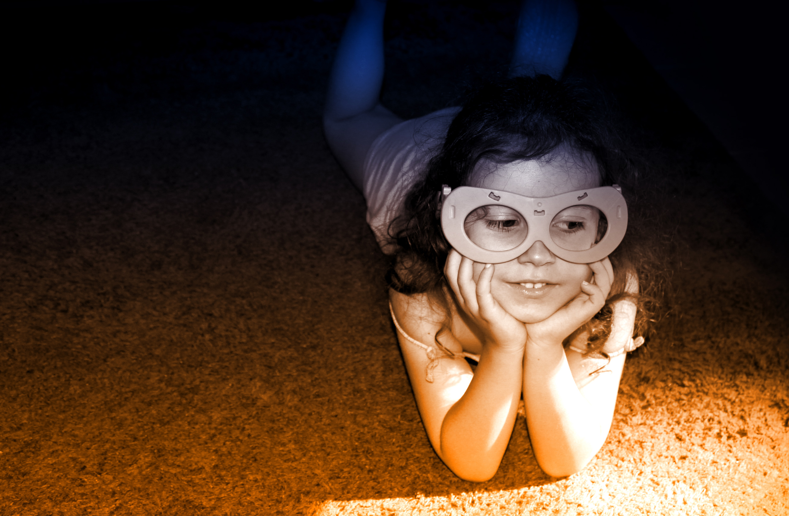 Little Girl Having Fun Wearing a Mask, Adorable, People, Kid, Leader, HQ Photo