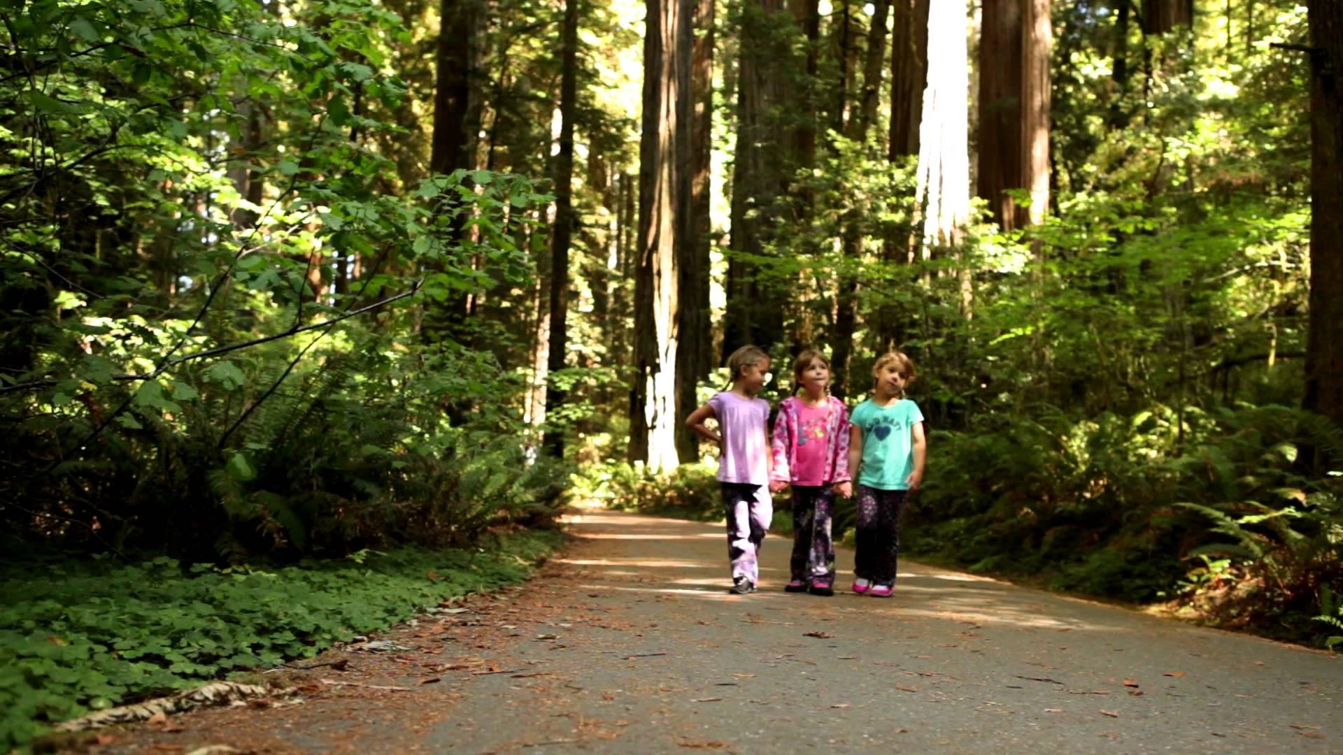 Little girls walking photo