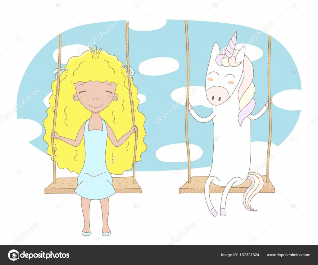 cartoon little princess — Stock Vector © Maria_Skrigan #167327824