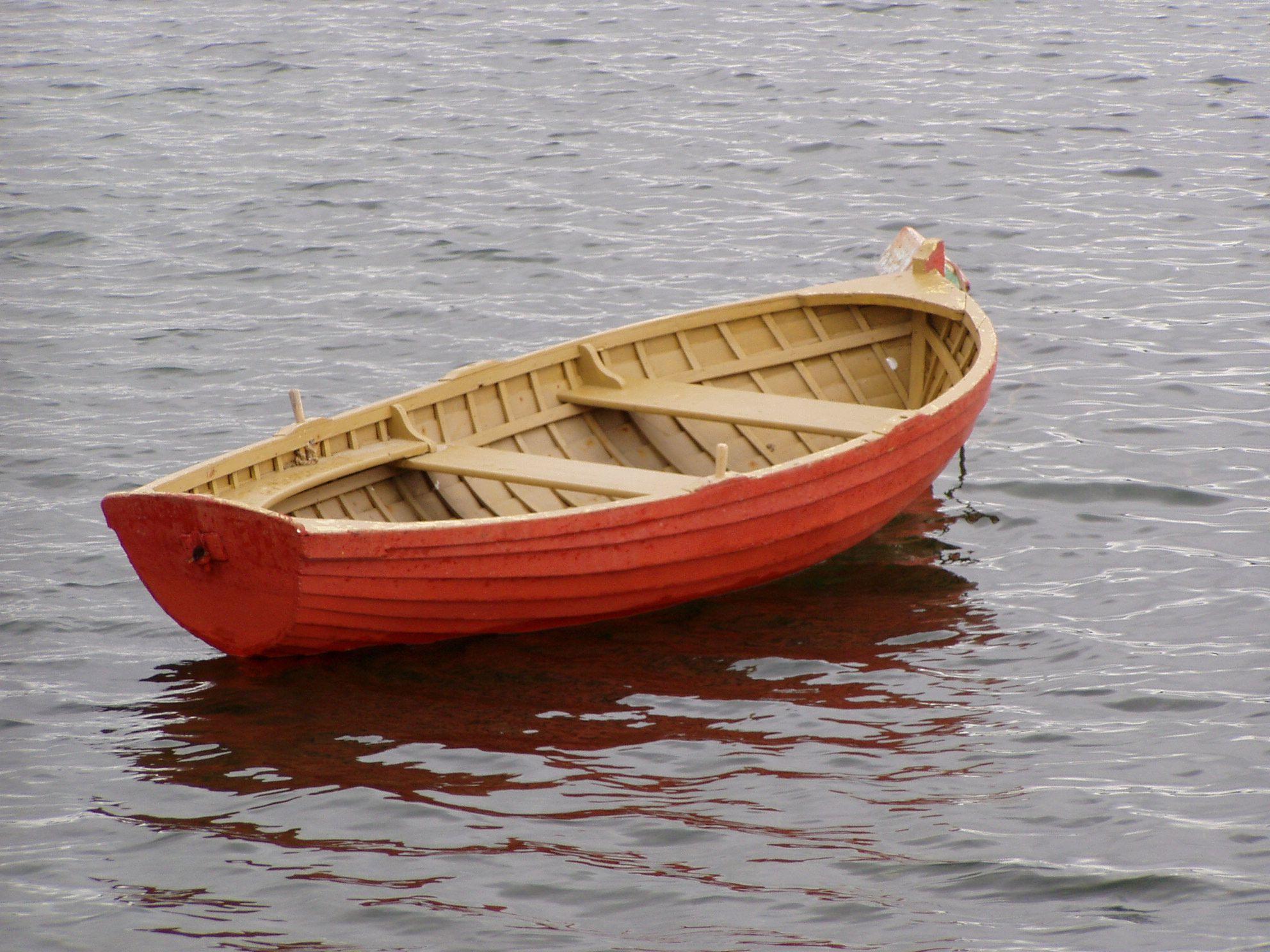 Little rowing boat photo