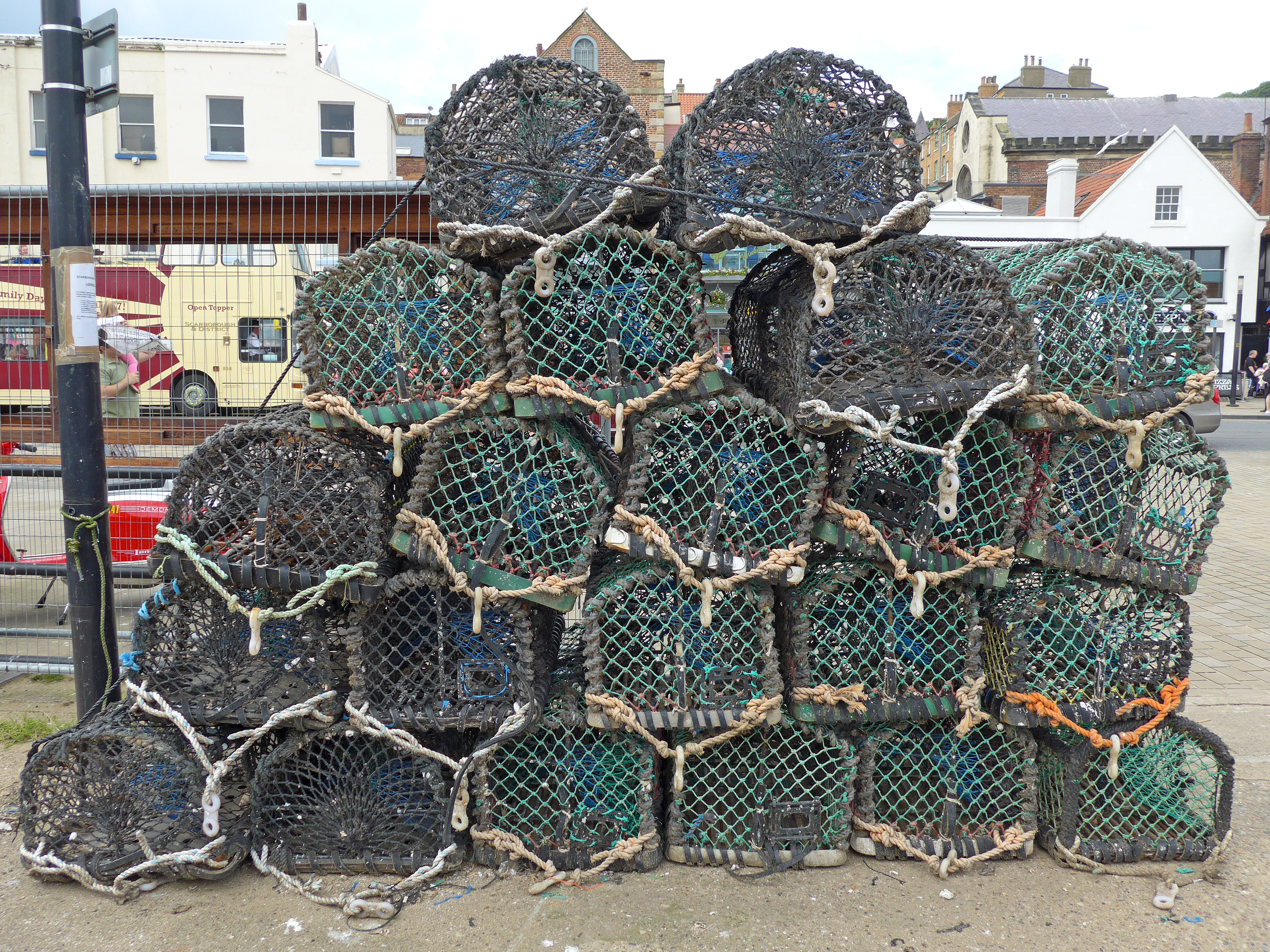 Free Photo Lobster Pots Picturesque Outside Pot Download File Outdoor Wiring Jpg Wikimedia Commons Filelobster 27969523656