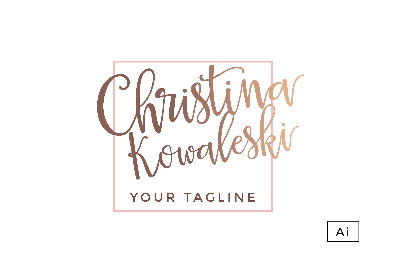 Rose Gold Luxury Brand Logo Template ~ Logo Templates ~ Creative Market