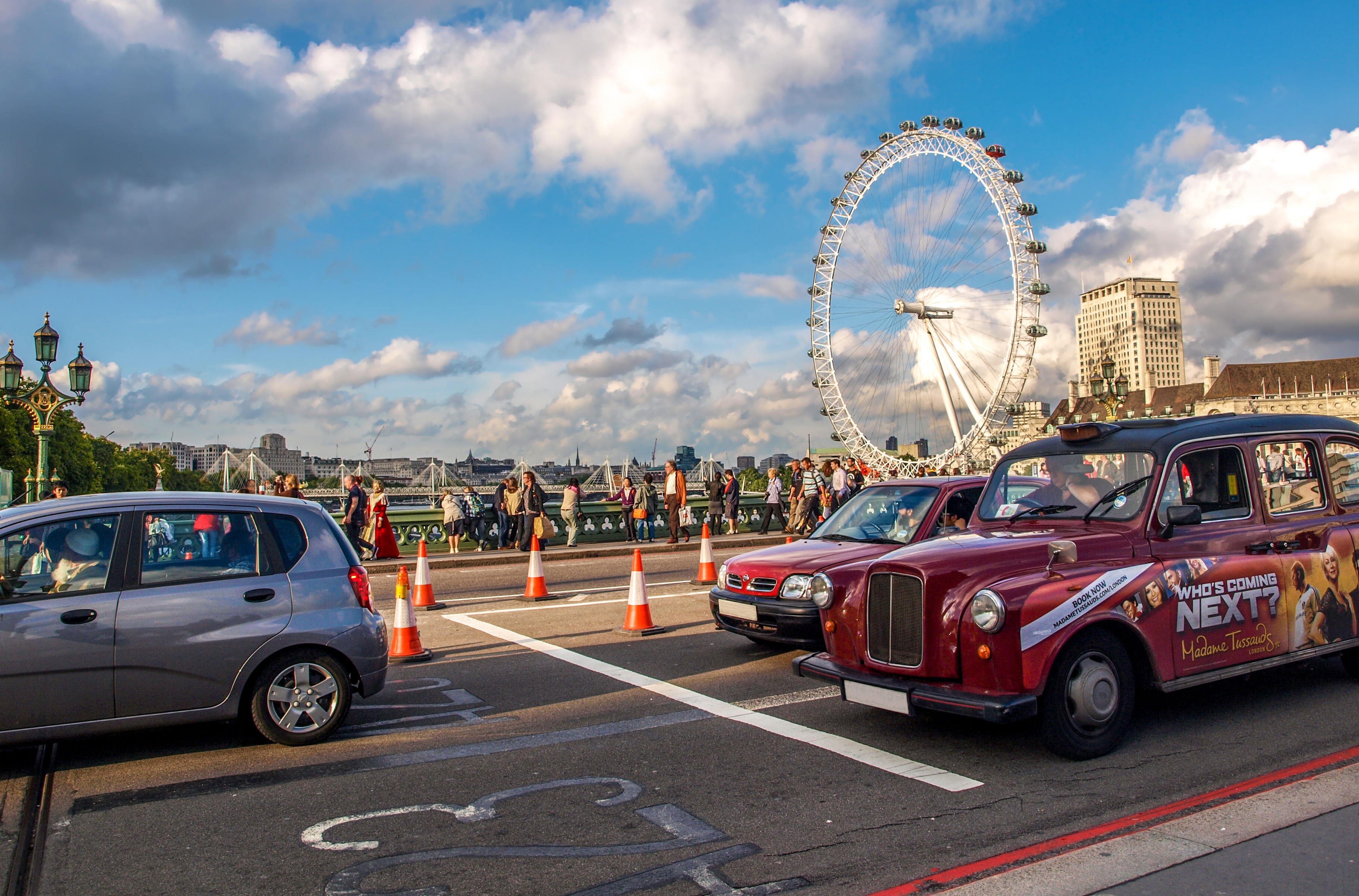 London Eye, England, UK, Britain, Road, Vehicle, Urban, HQ Photo