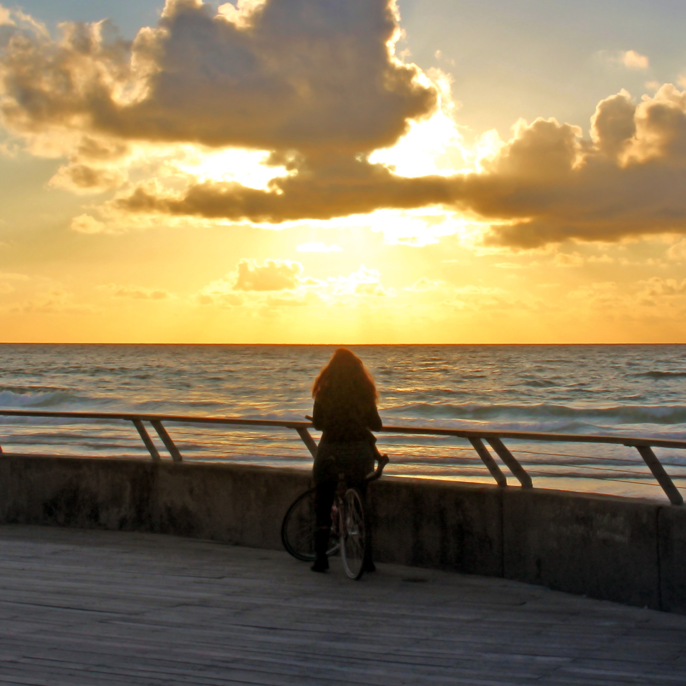 A lonely girl with a bicycle — Steemit
