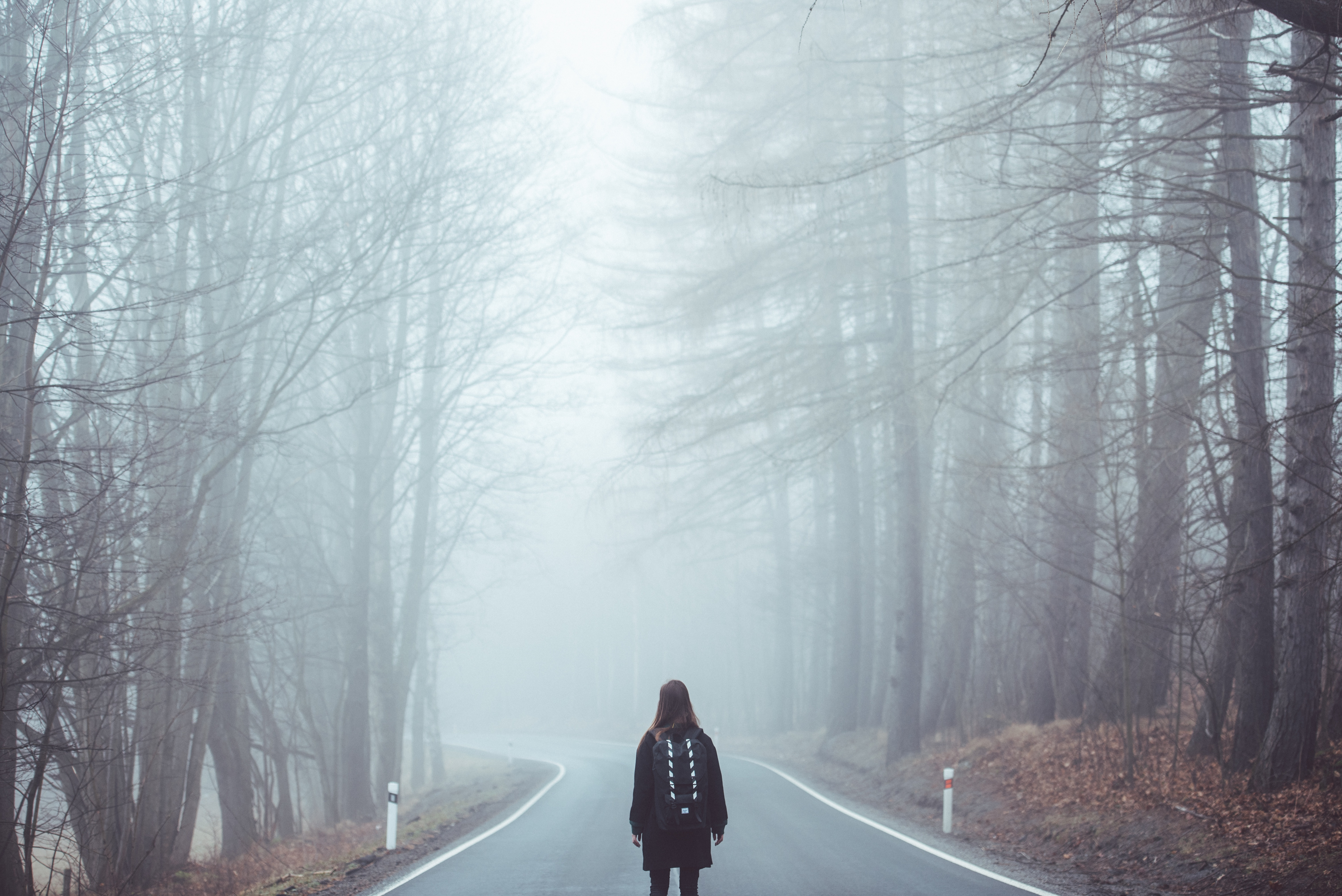 Lonely Girl, Fog, Girl, Lonely, Mist, HQ Photo