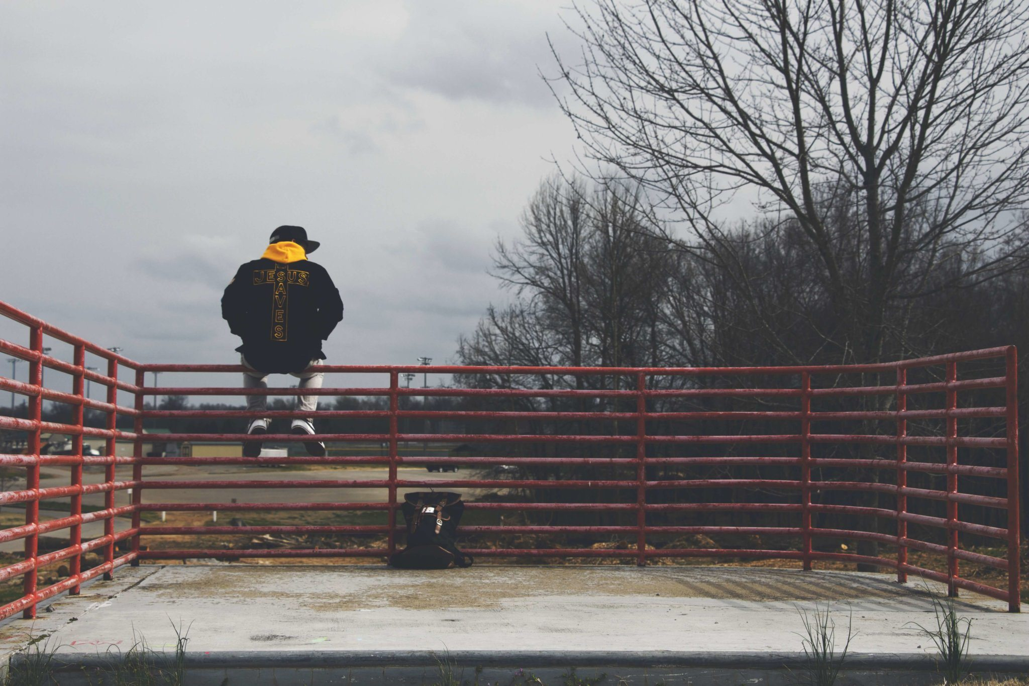 Lonely guy photo