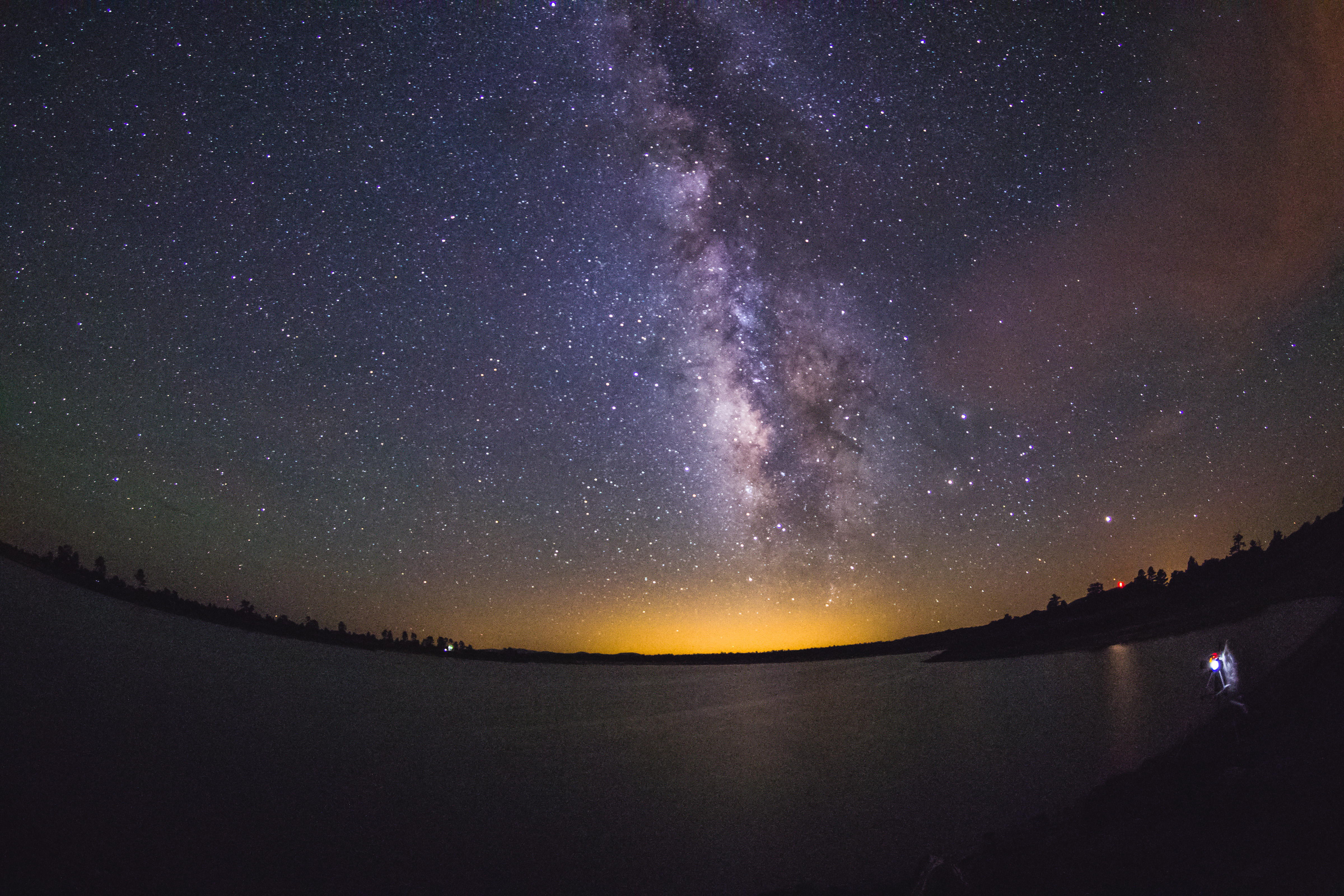 [lonely speck] milky way over ashurst lake photo