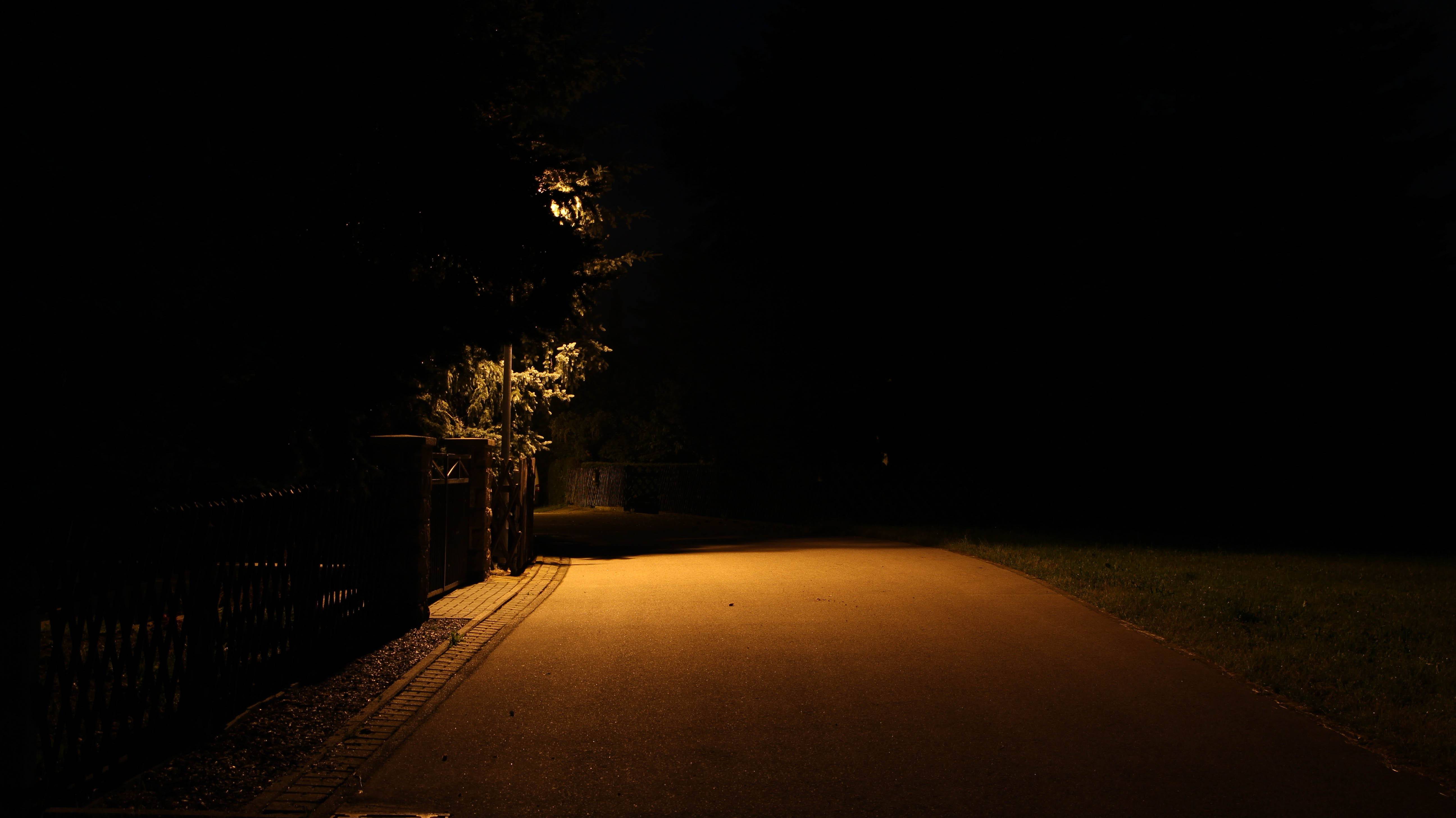 Lonely street at night photo