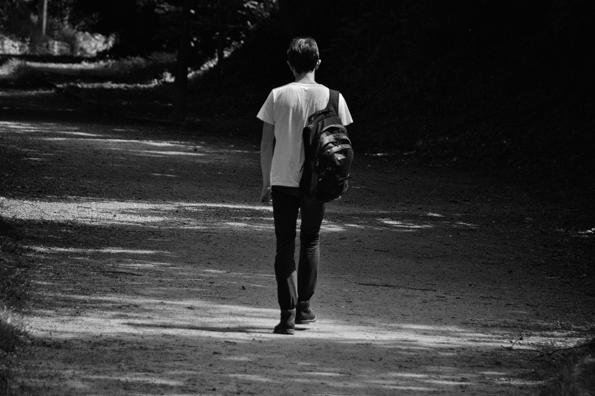 Lonely walk photo